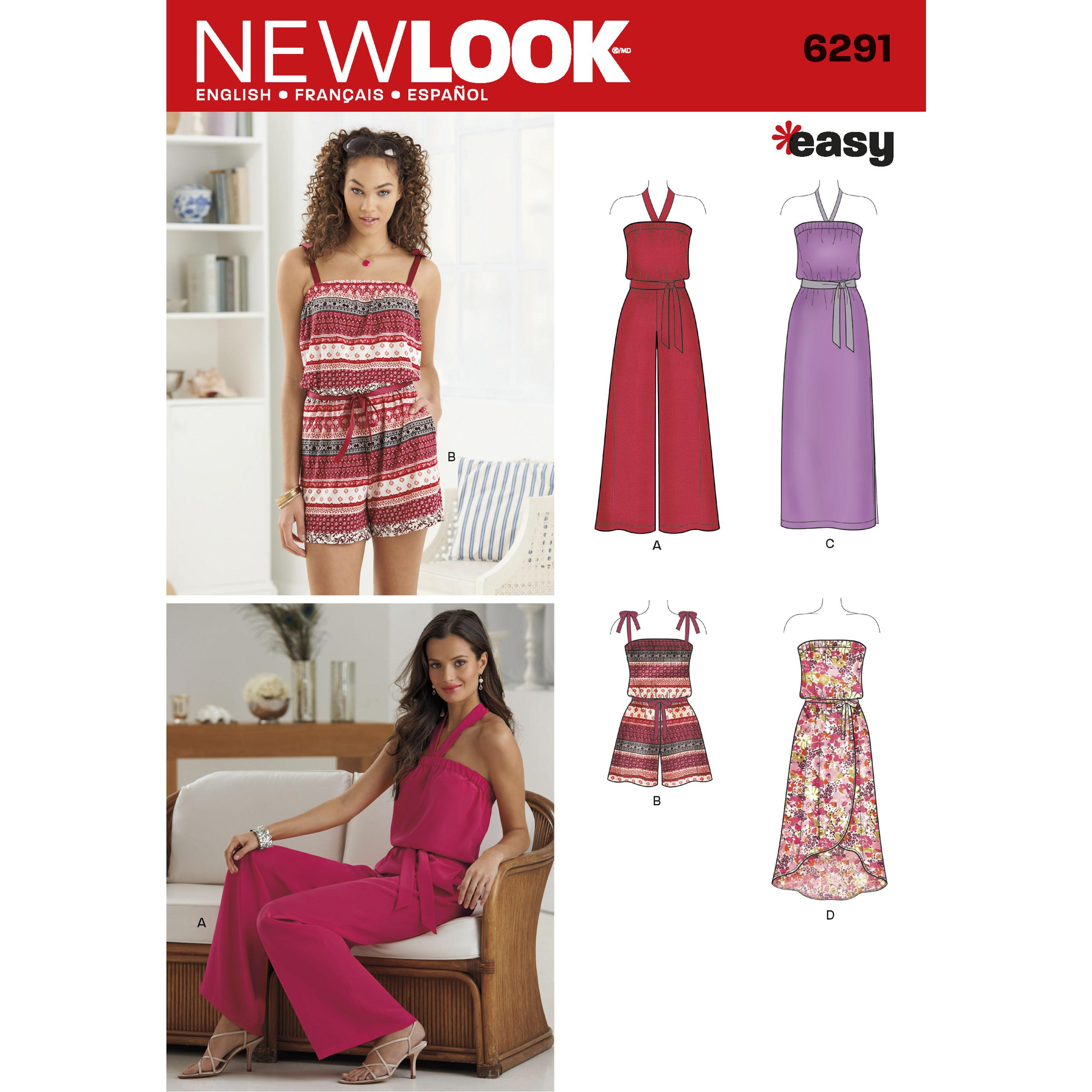 NewLook N6291 Misses' Jumpsuit & Dress Each in Two Lengths