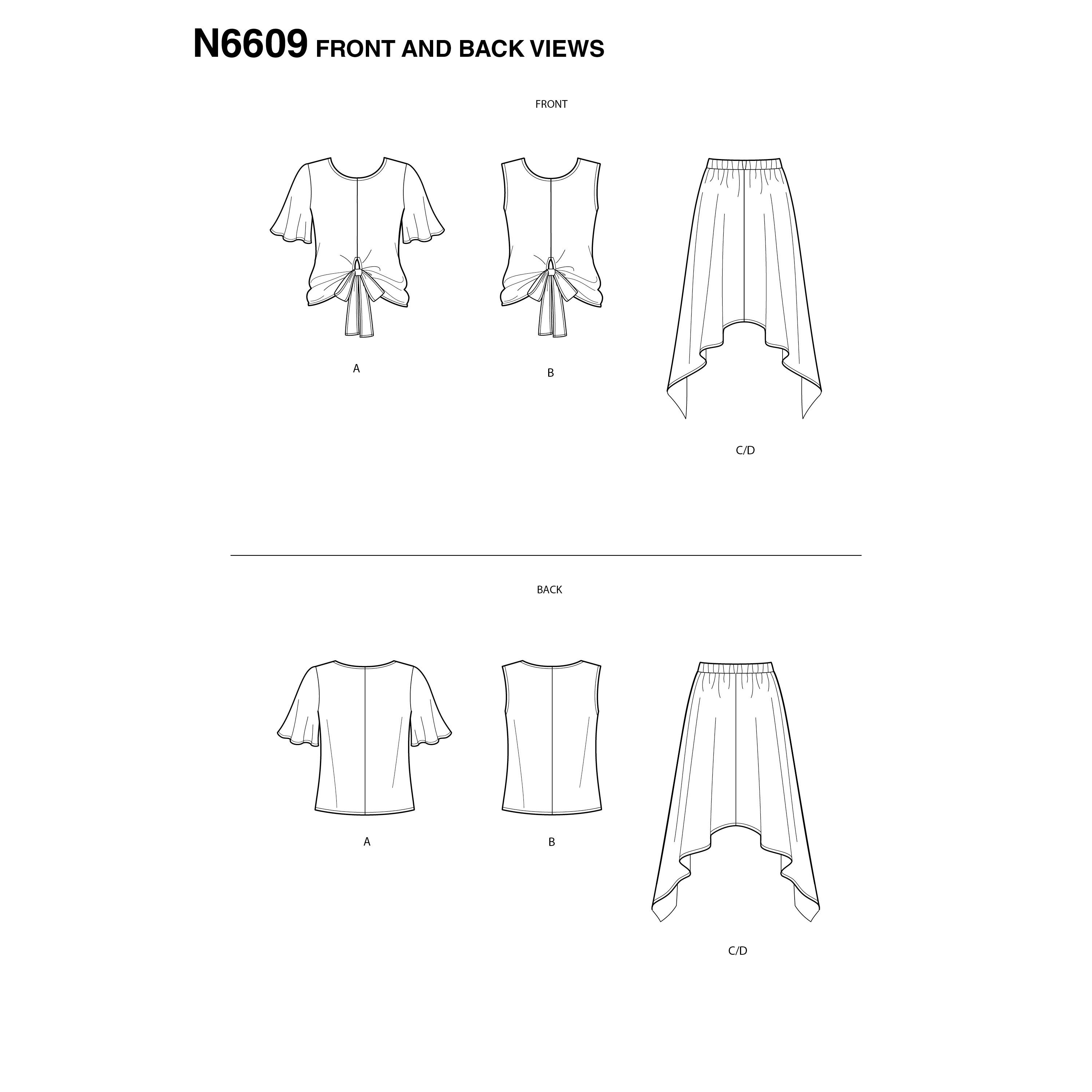 NewLook Sewing Pattern N6609 Misses' 2-Piece Dress