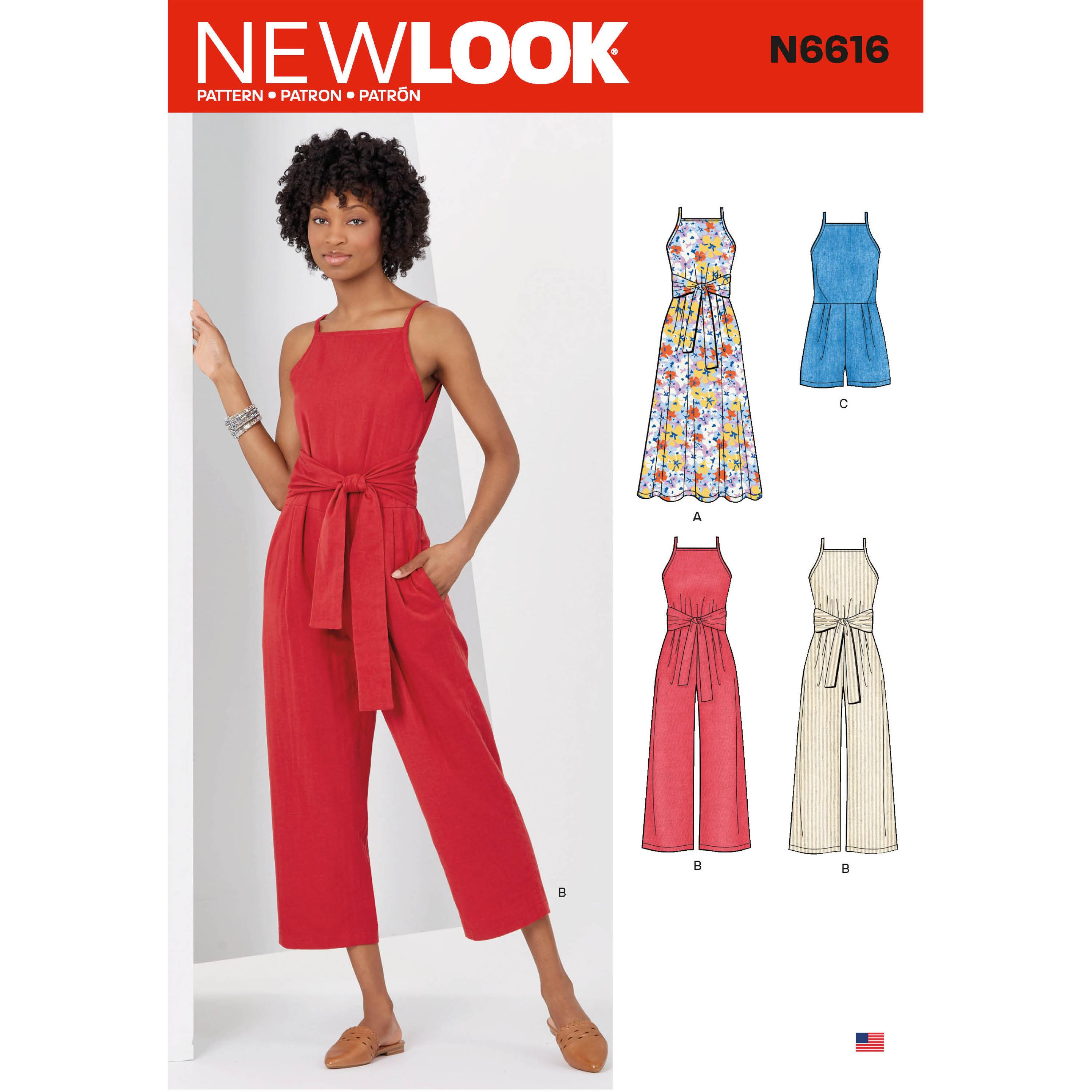 NewLook Sewing Pattern N6616 Misses' Dress And Jumpsuit