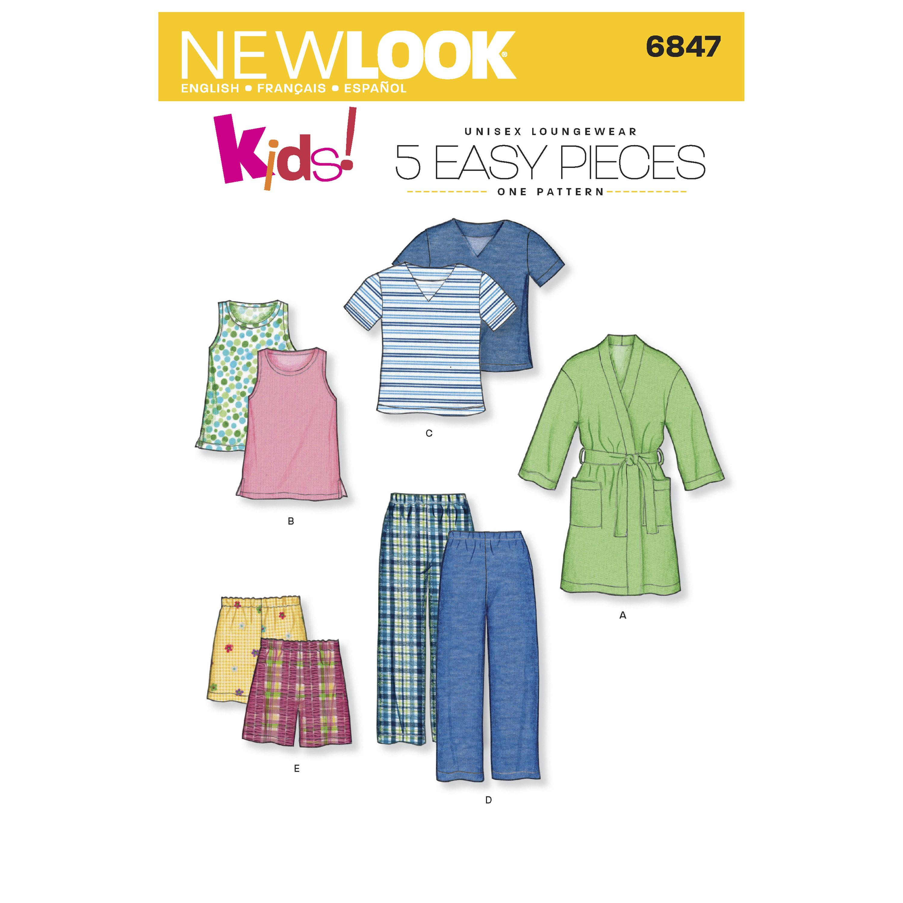 NewLook N6847 Child Sleepwear