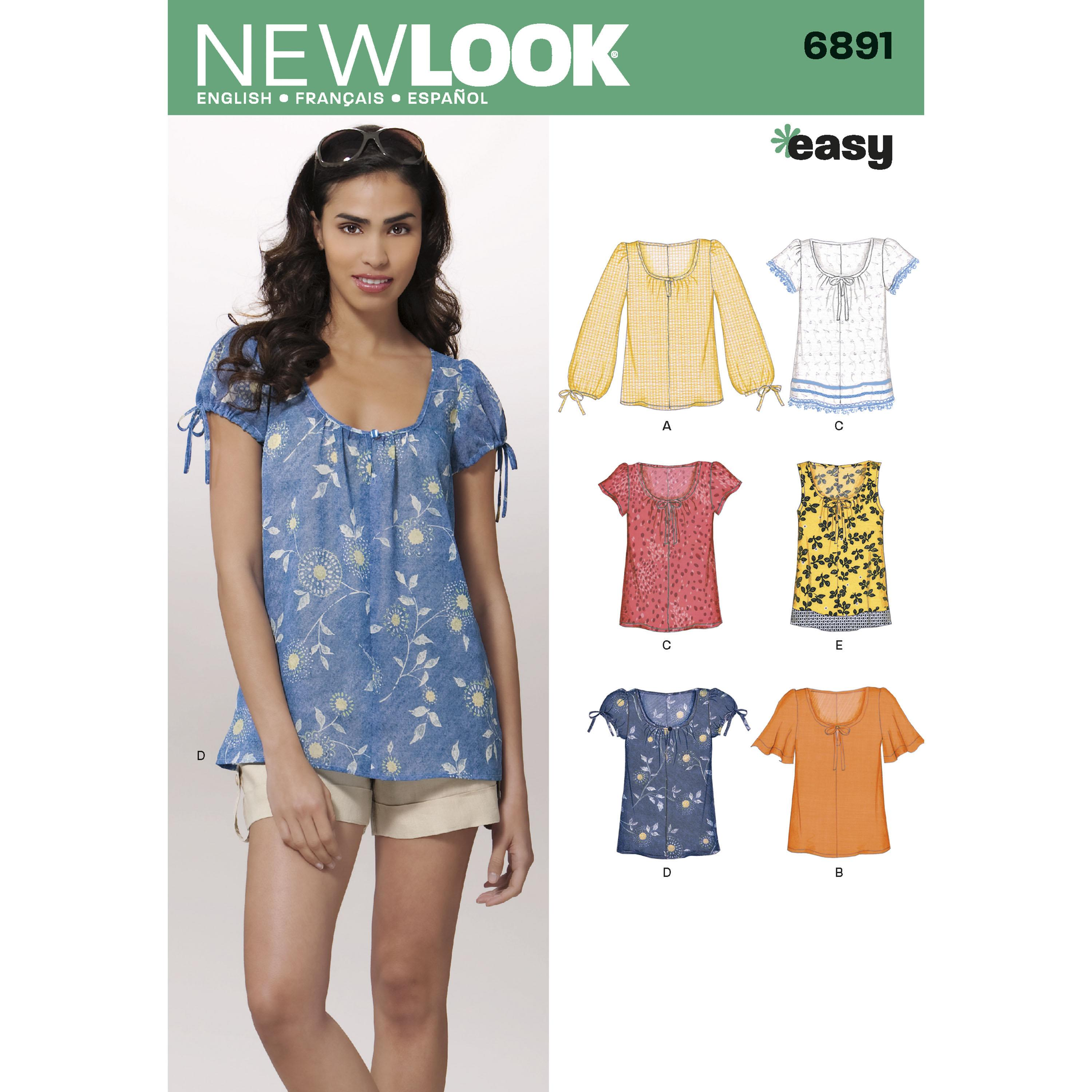 NewLook N6891 Misses Tops