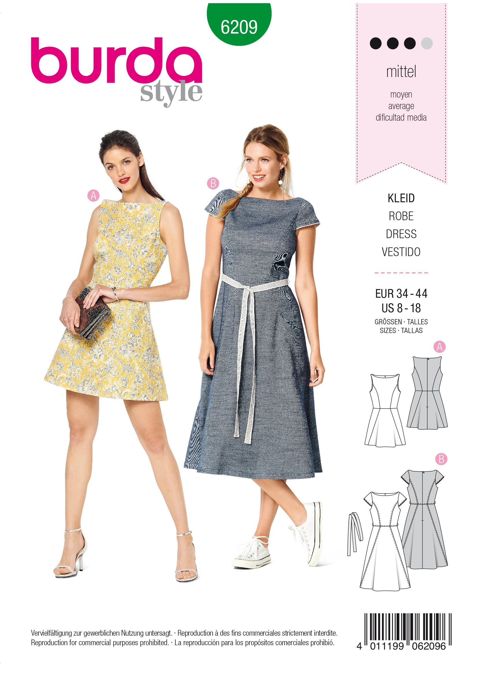 Burda B6209 Dress Sewing Pattern