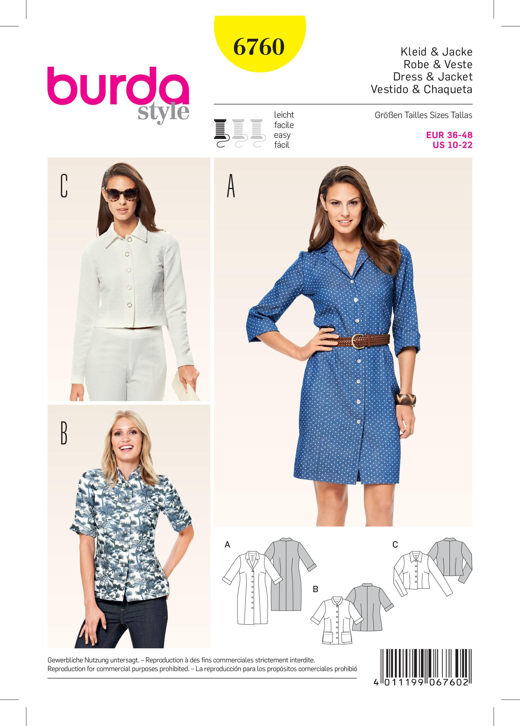Burda B6760 Dresses Sewing Pattern