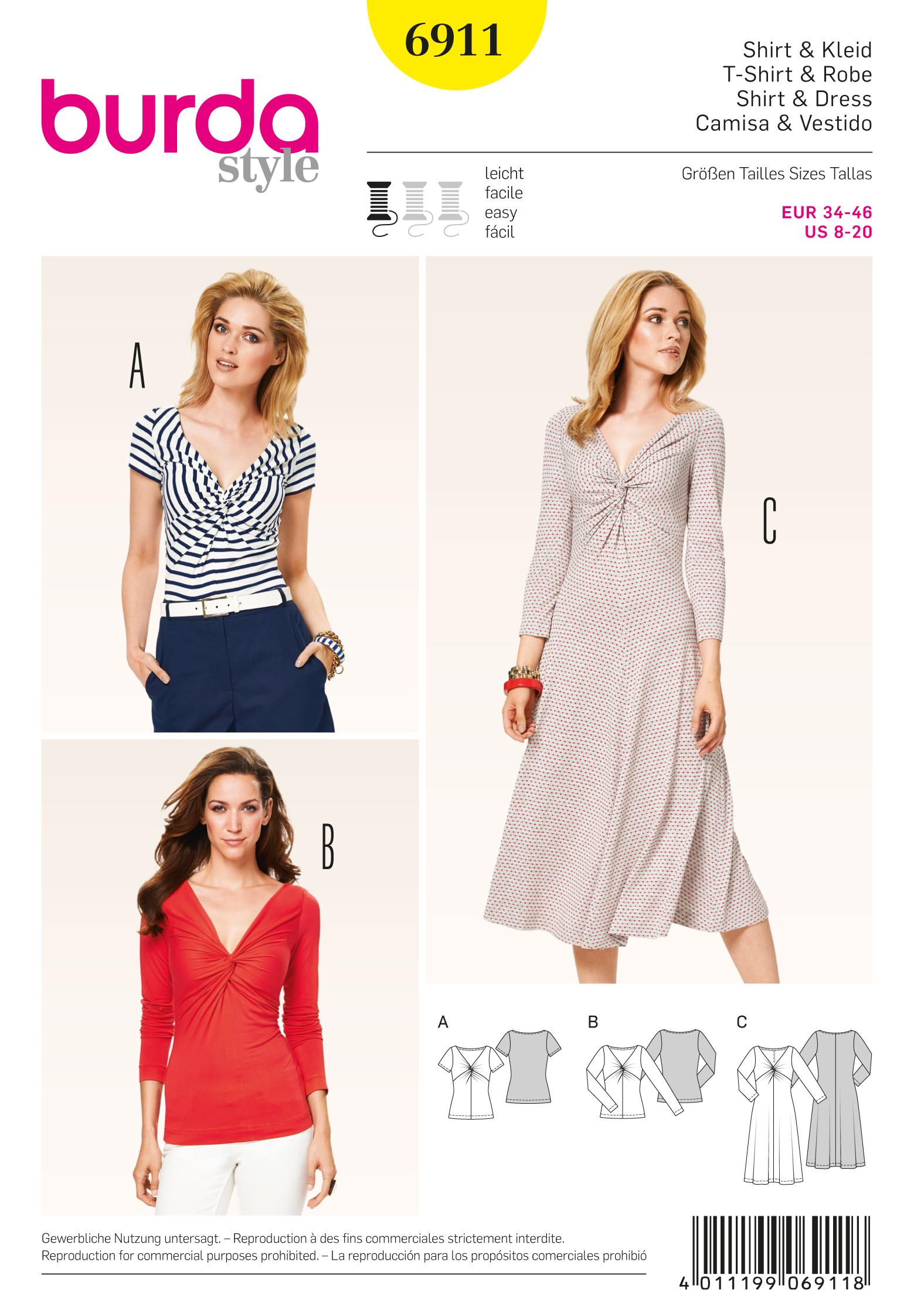 Burda B6911 Burda Dresses  Sewing Pattern