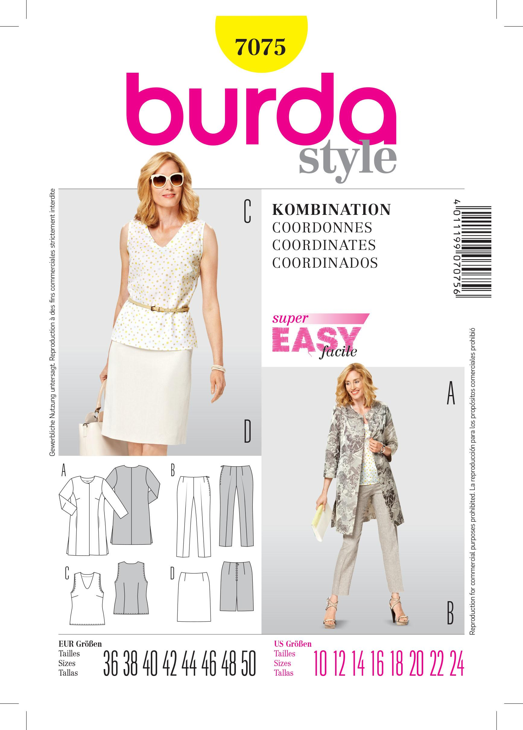 Burda B7075 Burda Coordinates Sewing Pattern