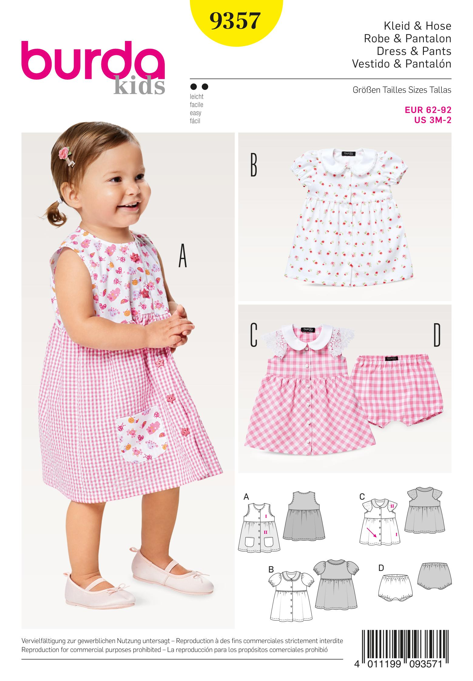 Burda B9357 Baby Collar Dress and Panties