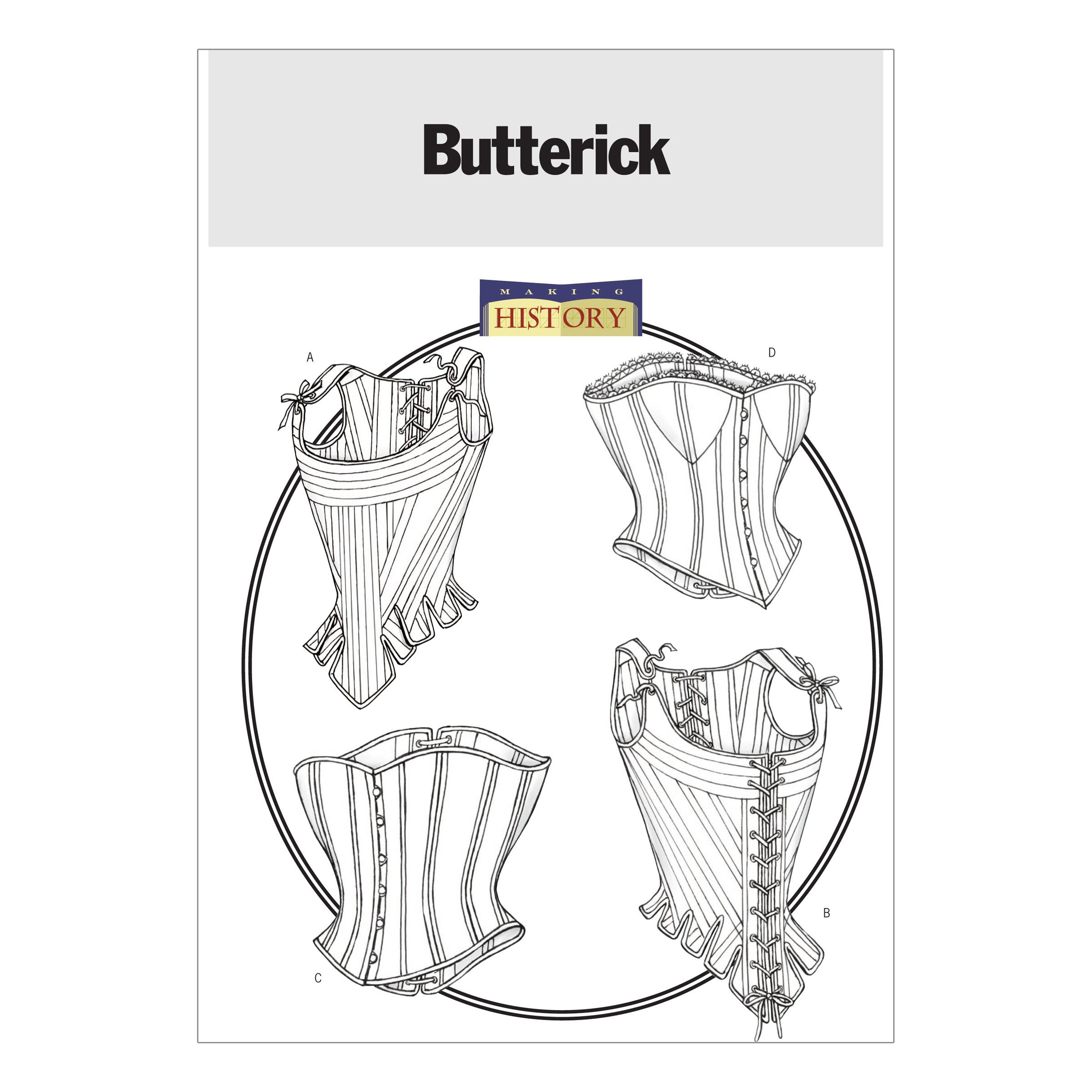 Butterick B4254 Misses' Stays and Corsets