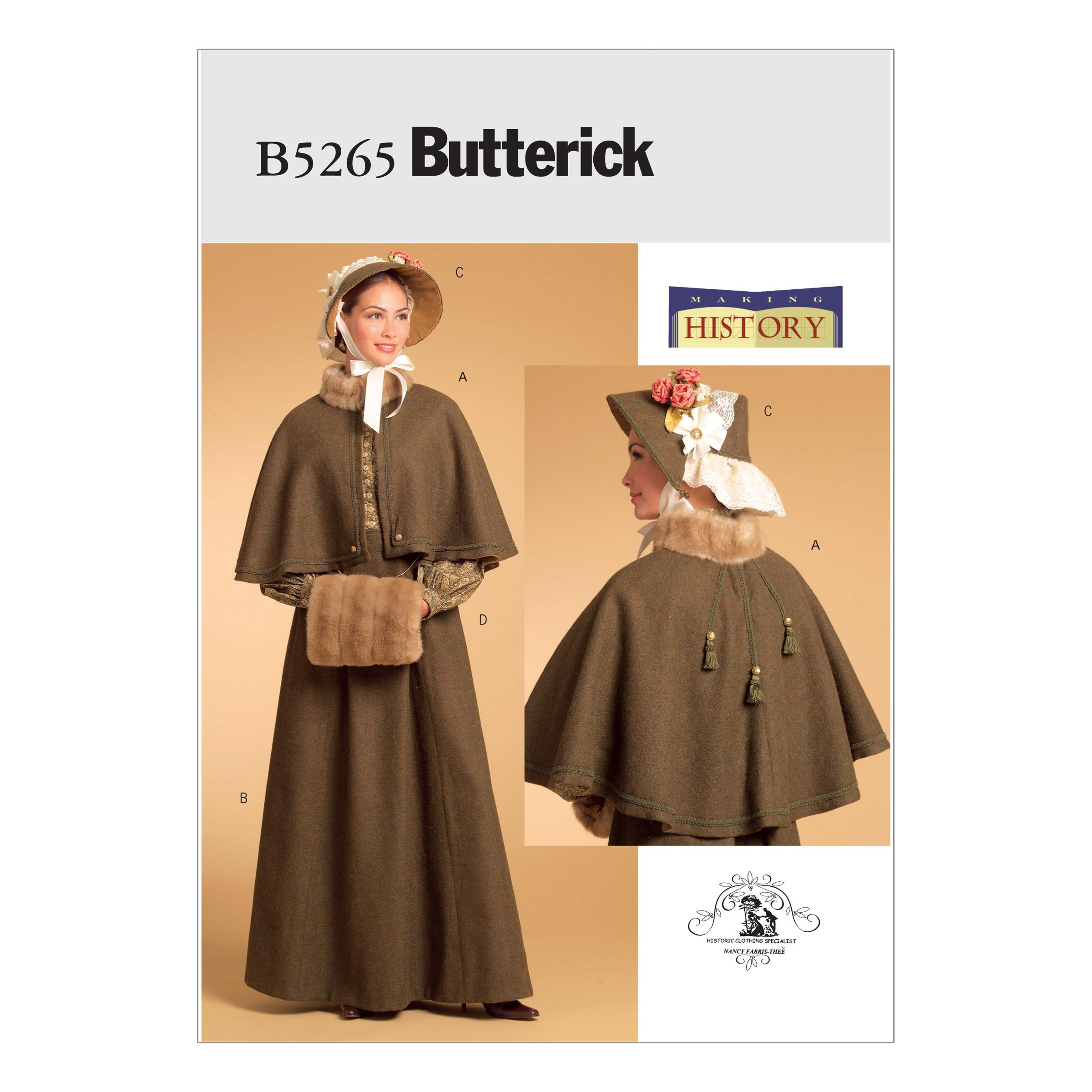 Butterick B5265 Misses' Historical Costume