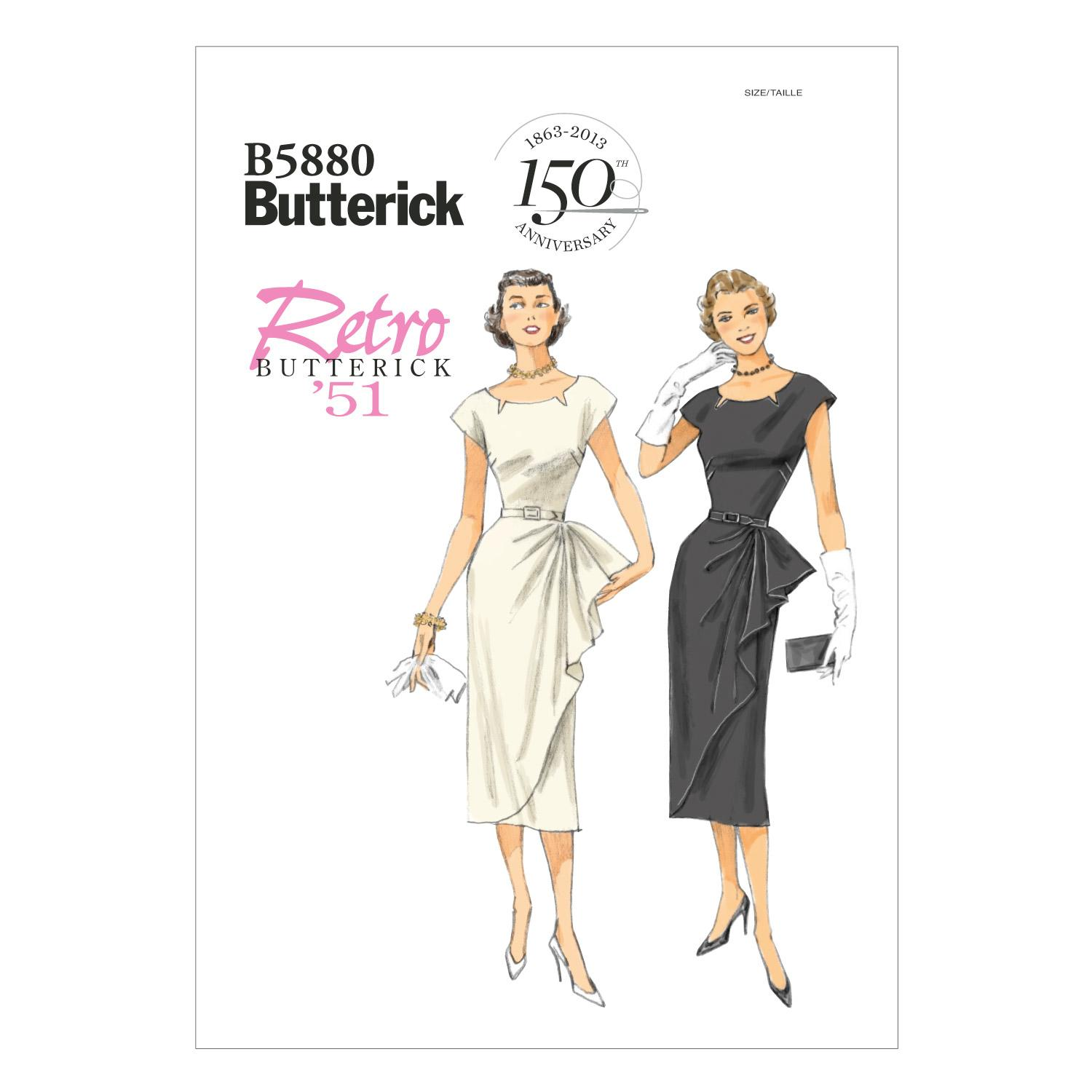 Butterick B5880 Misses'/Misses' Petite Dress and Belt