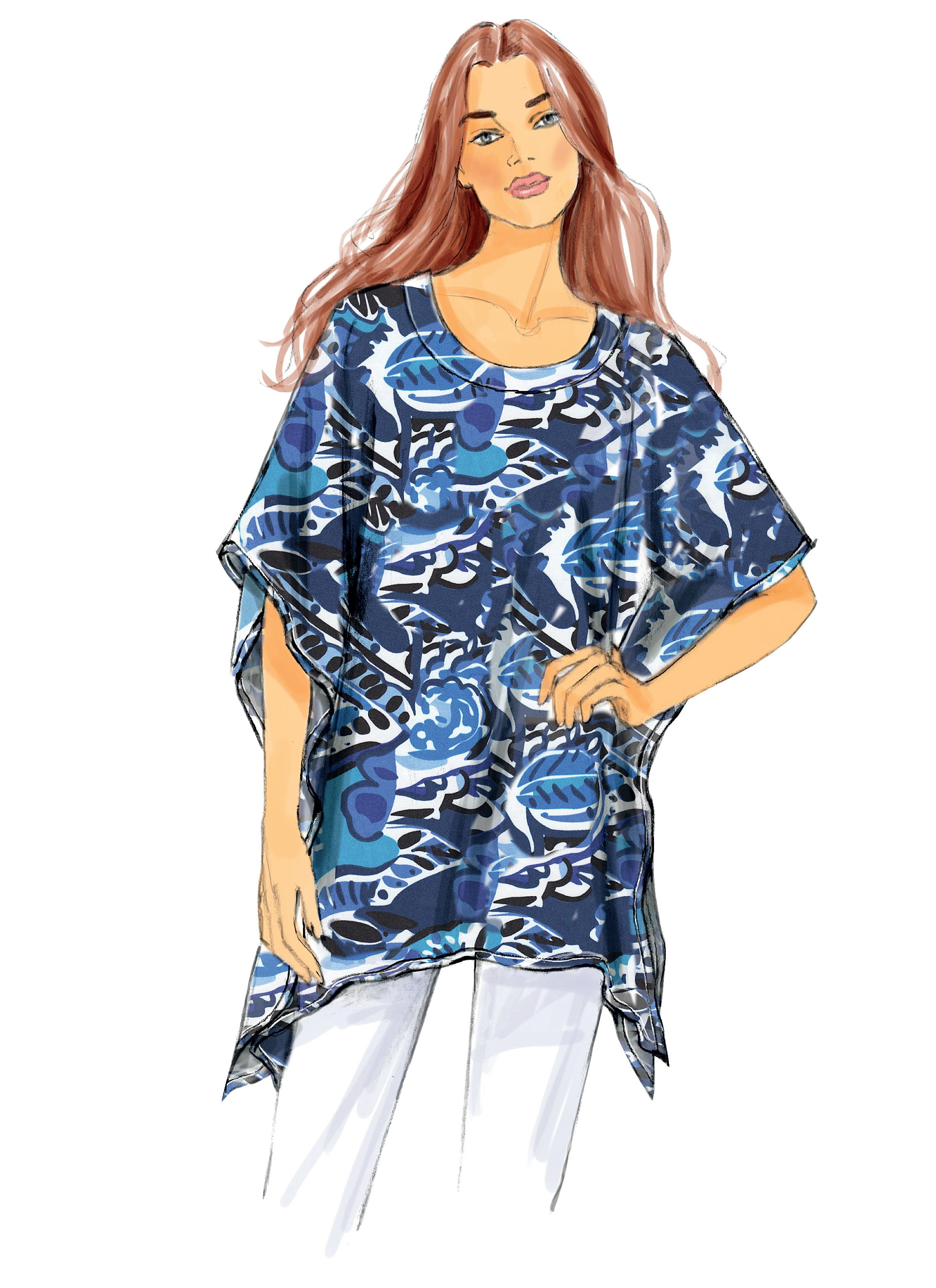 Butterick B6173 Misses' Tunic and Top