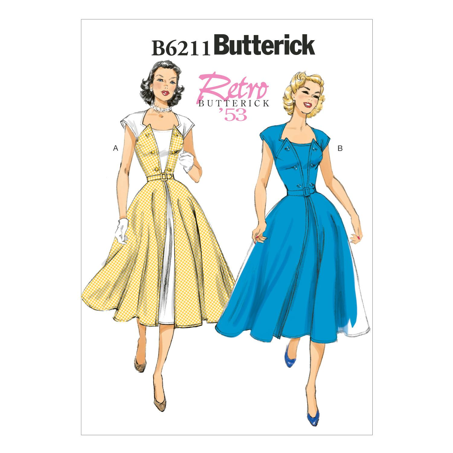Butterick B6211 Misses' Dress and Belt
