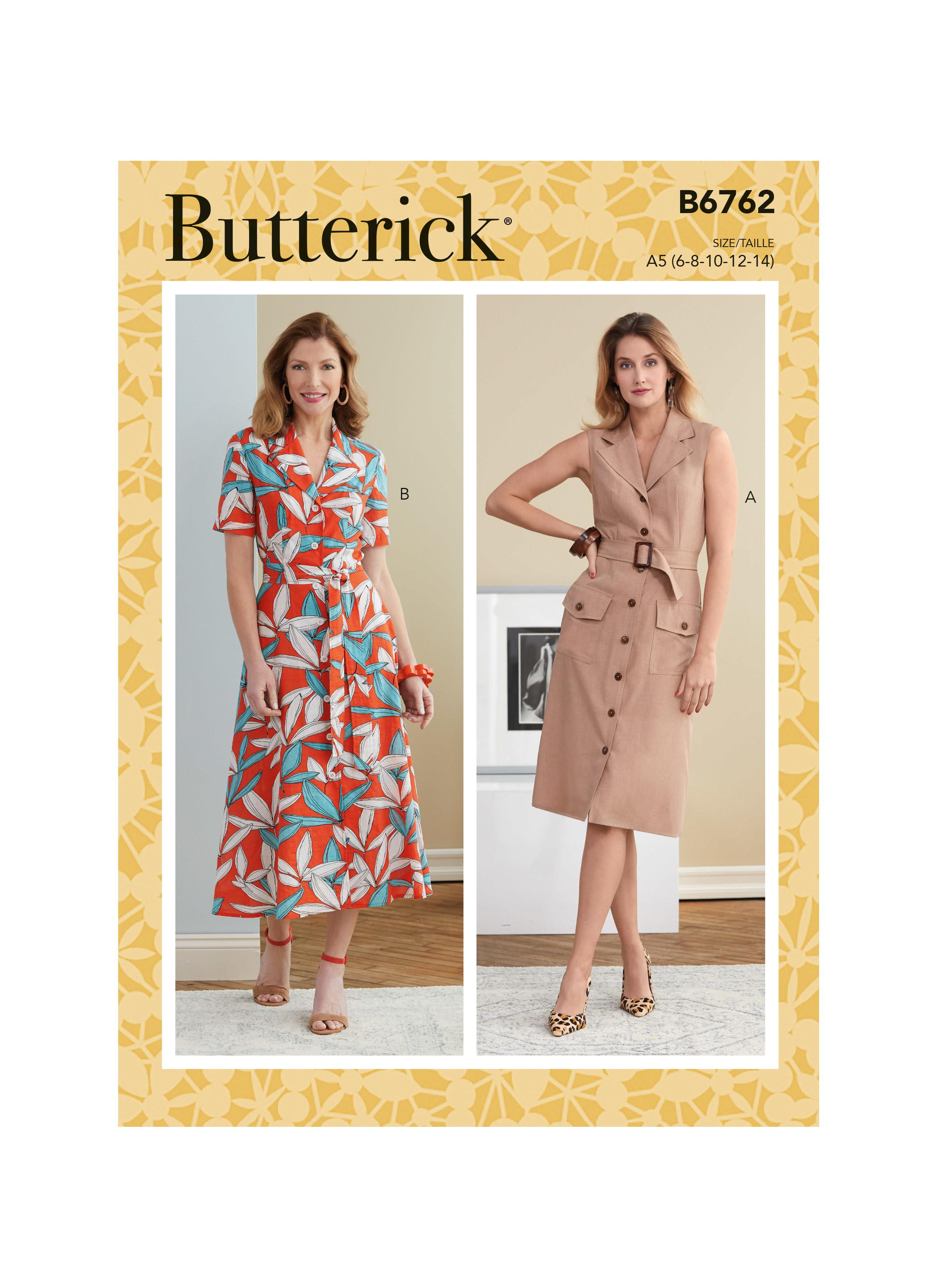 Butterick B6762 Misses' Dress, Sash and Belt
