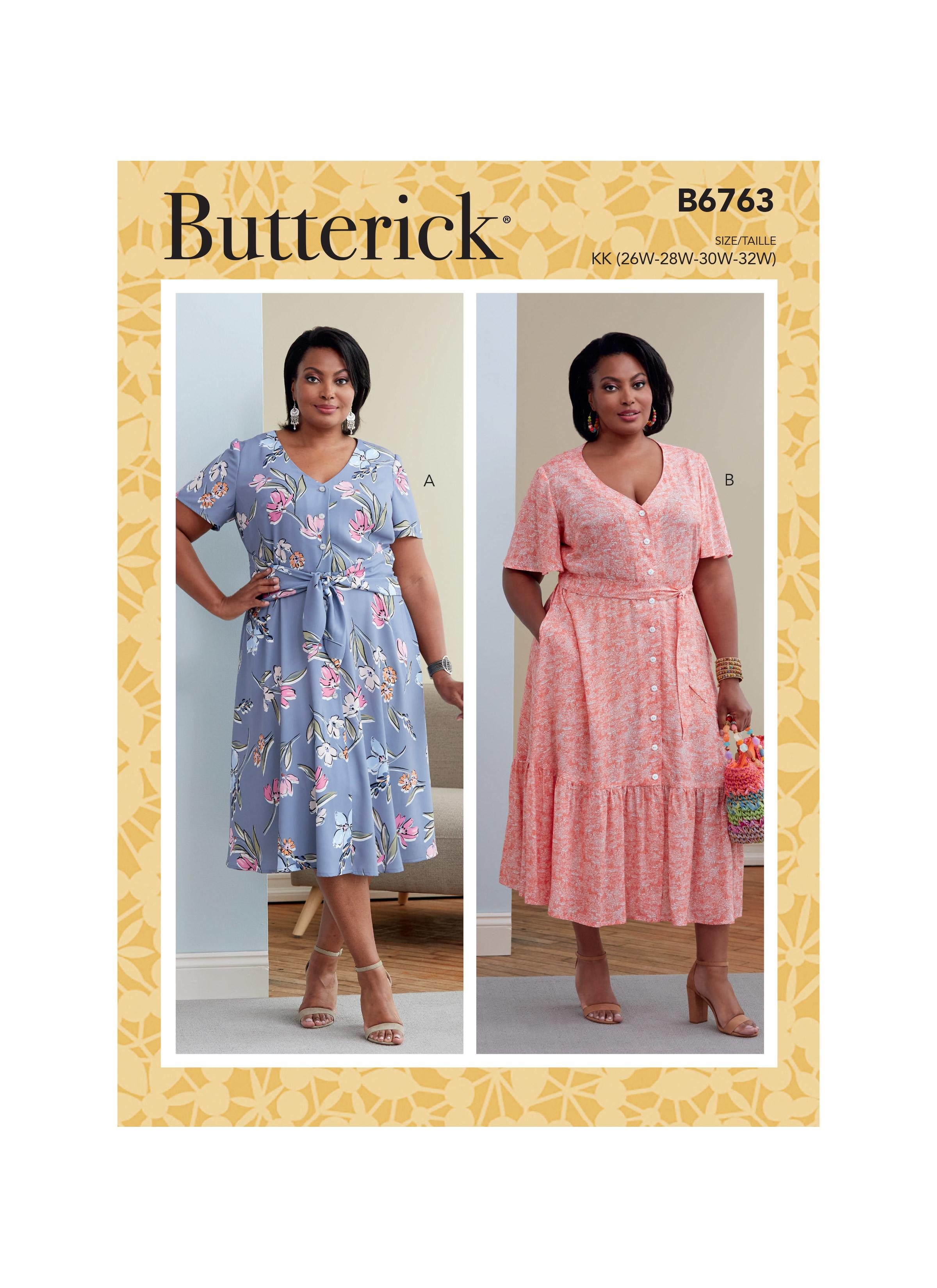 Butterick B6763 Women's Dress