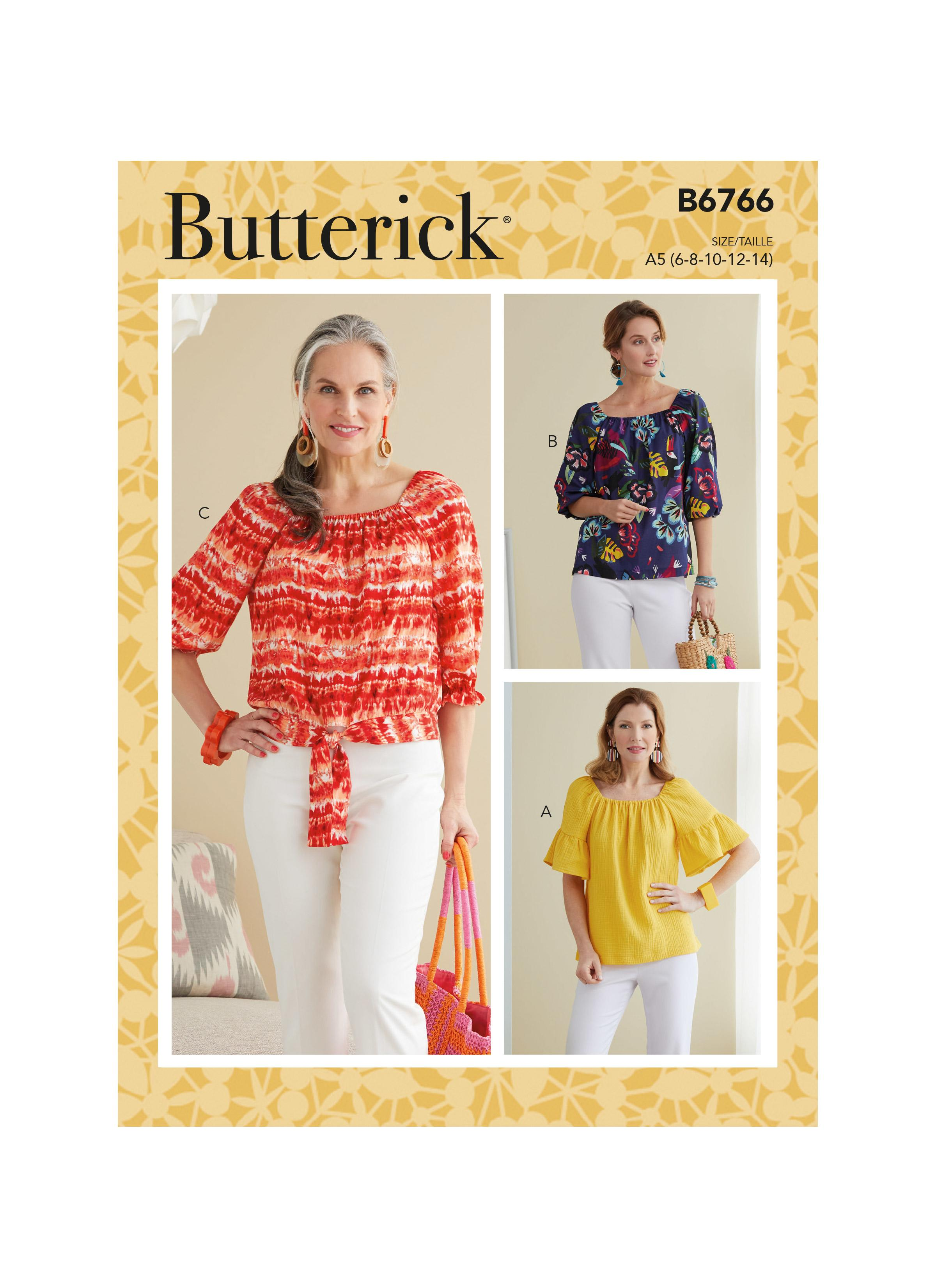 Butterick B6766 Misses' Tops