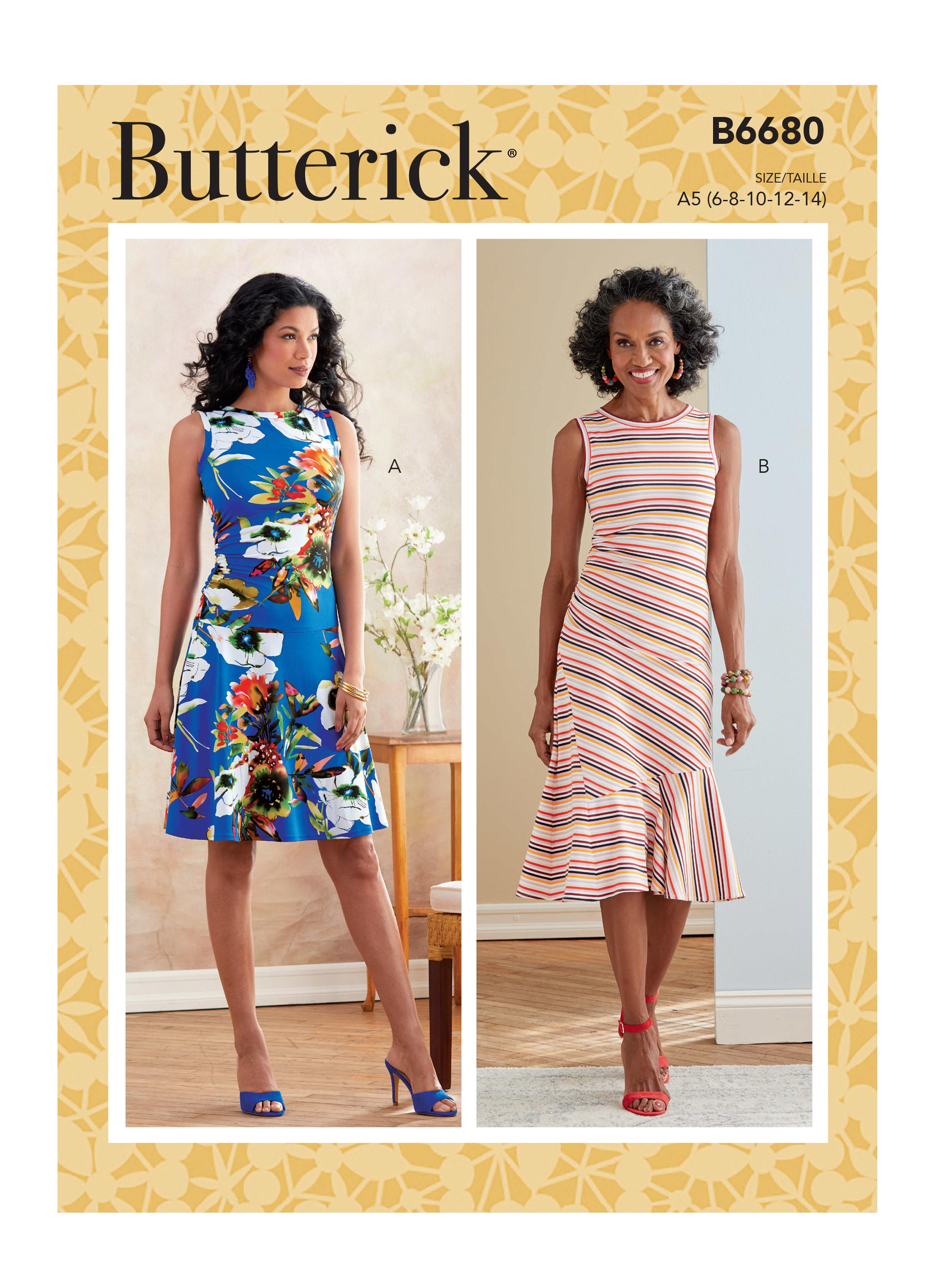 Butterick B6680 Misses' Dress