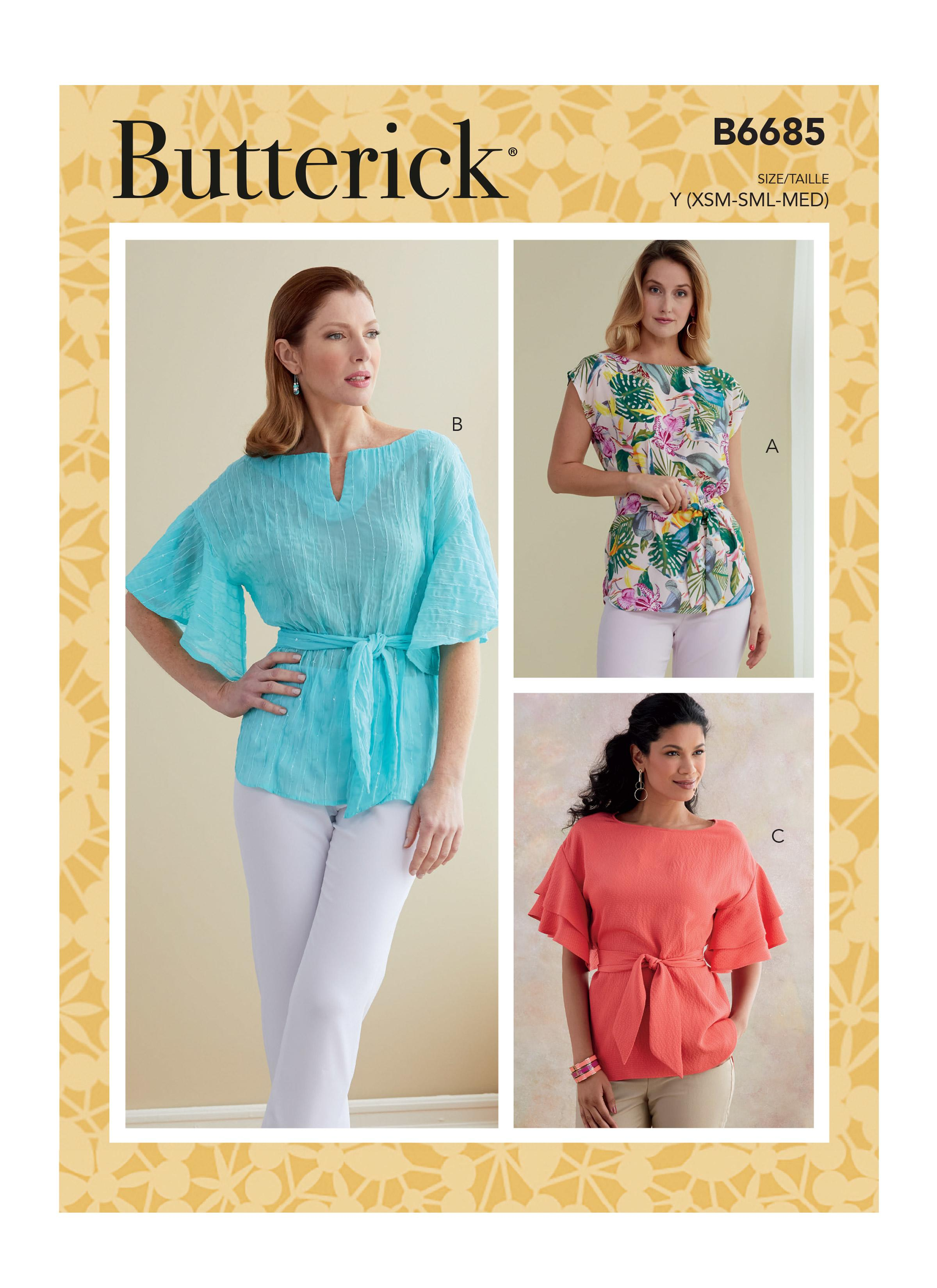 Butterick B6685 Misses' Top and Sash
