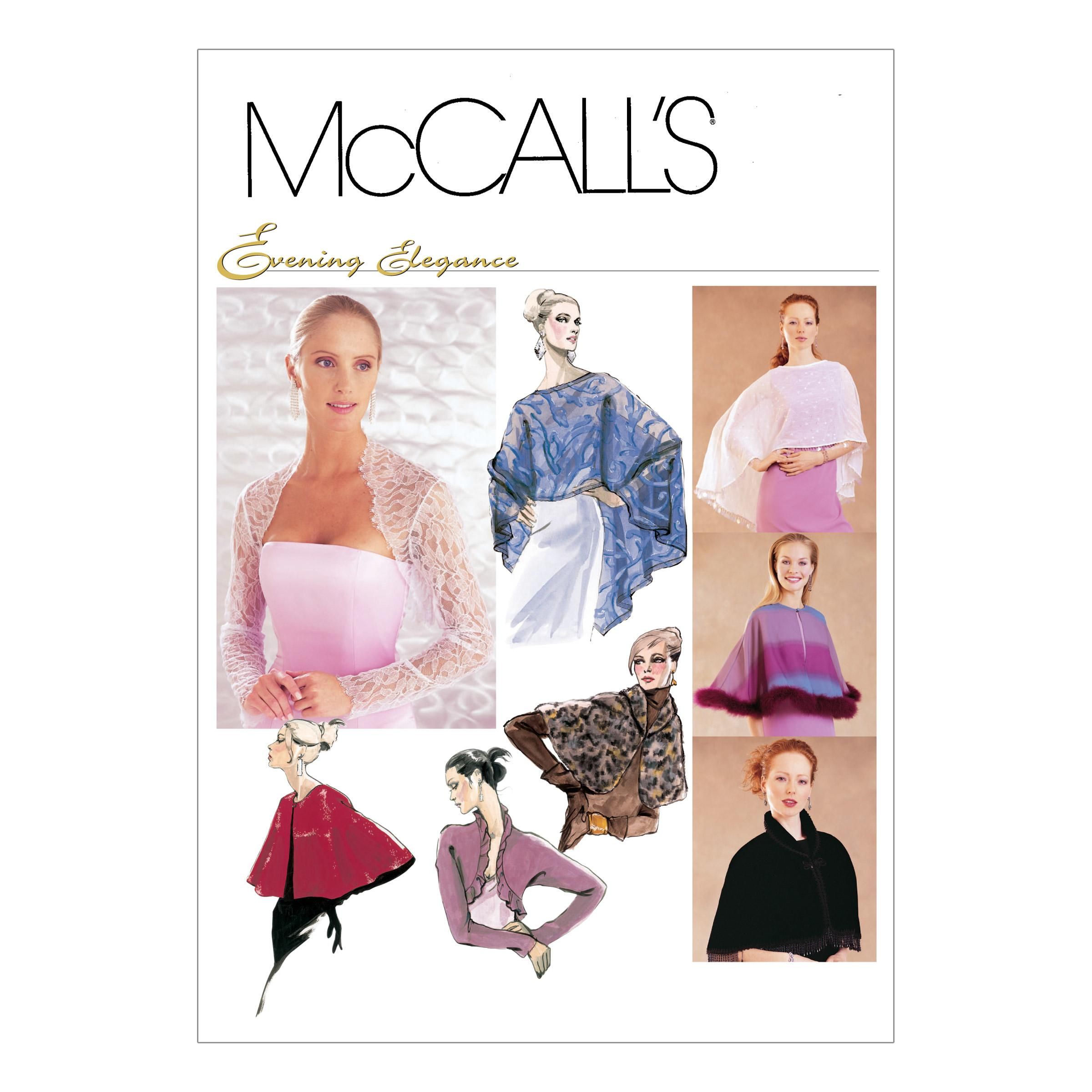 McCalls M3033 Accessories, Evening/Prom, Jackets/Vests, Misses, Misses/Women/Girls, Prom