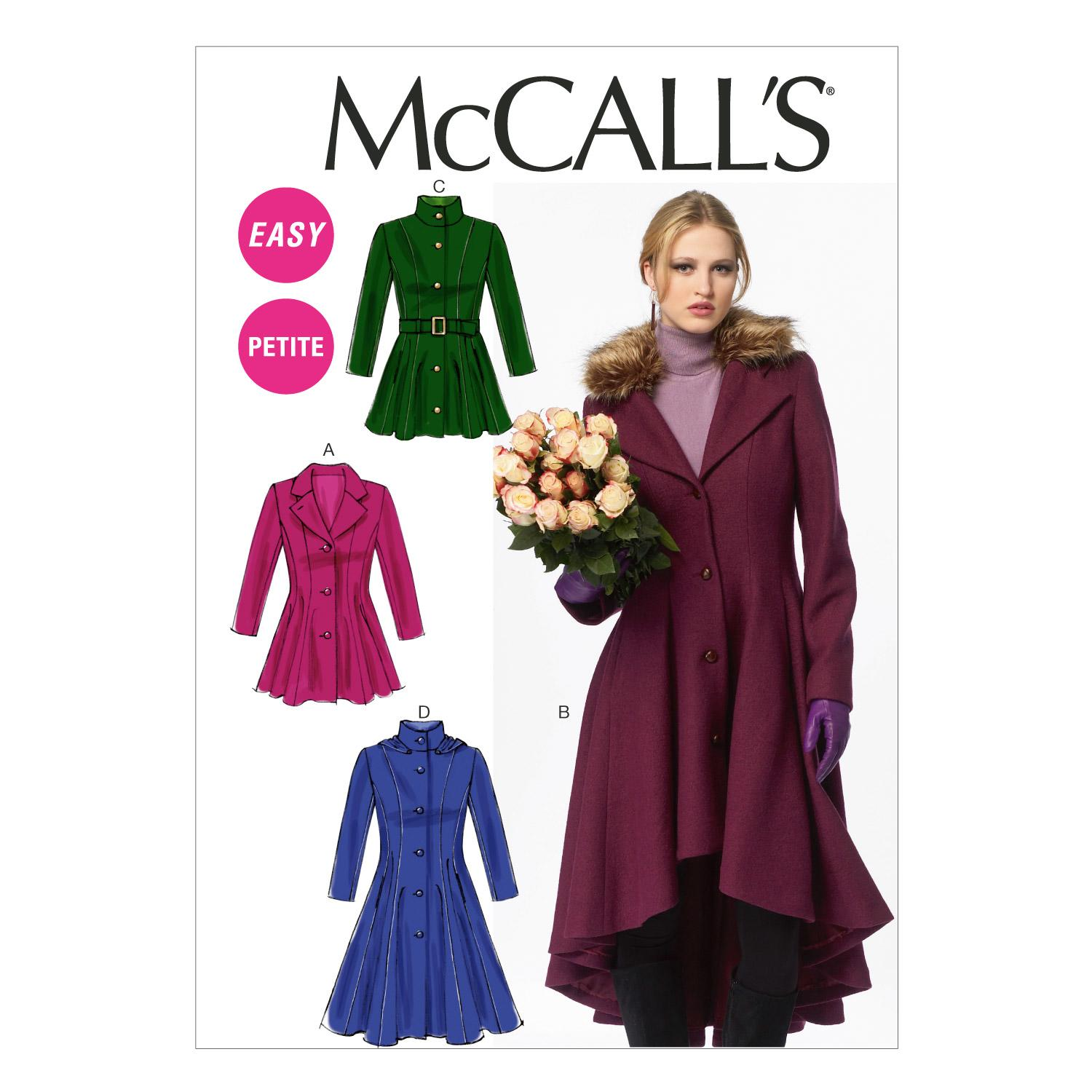McCalls M6800 Coats/Capes/ Ponchos