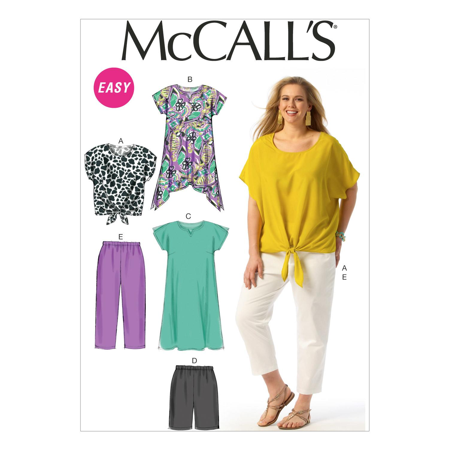 McCalls M6971 Misses/Women/Girls, Plus Size, Tops/Blouses