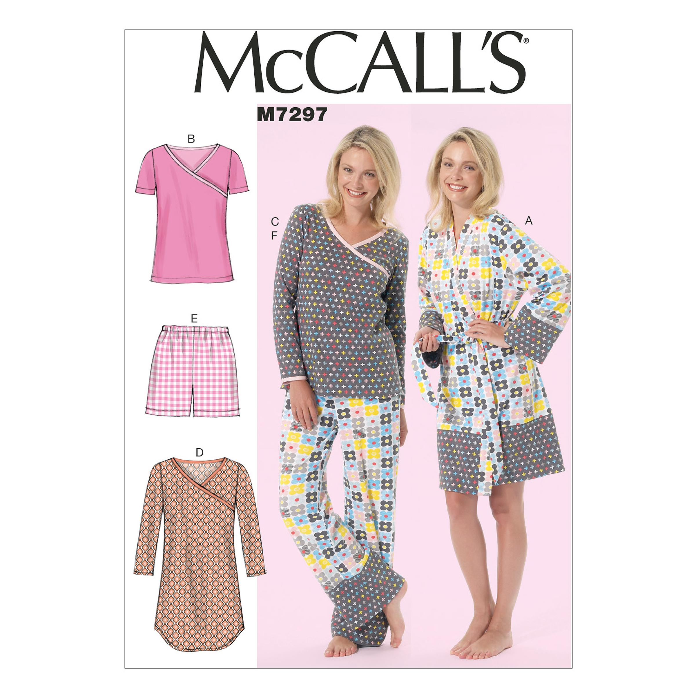 McCalls M7297 Family Sleepwear