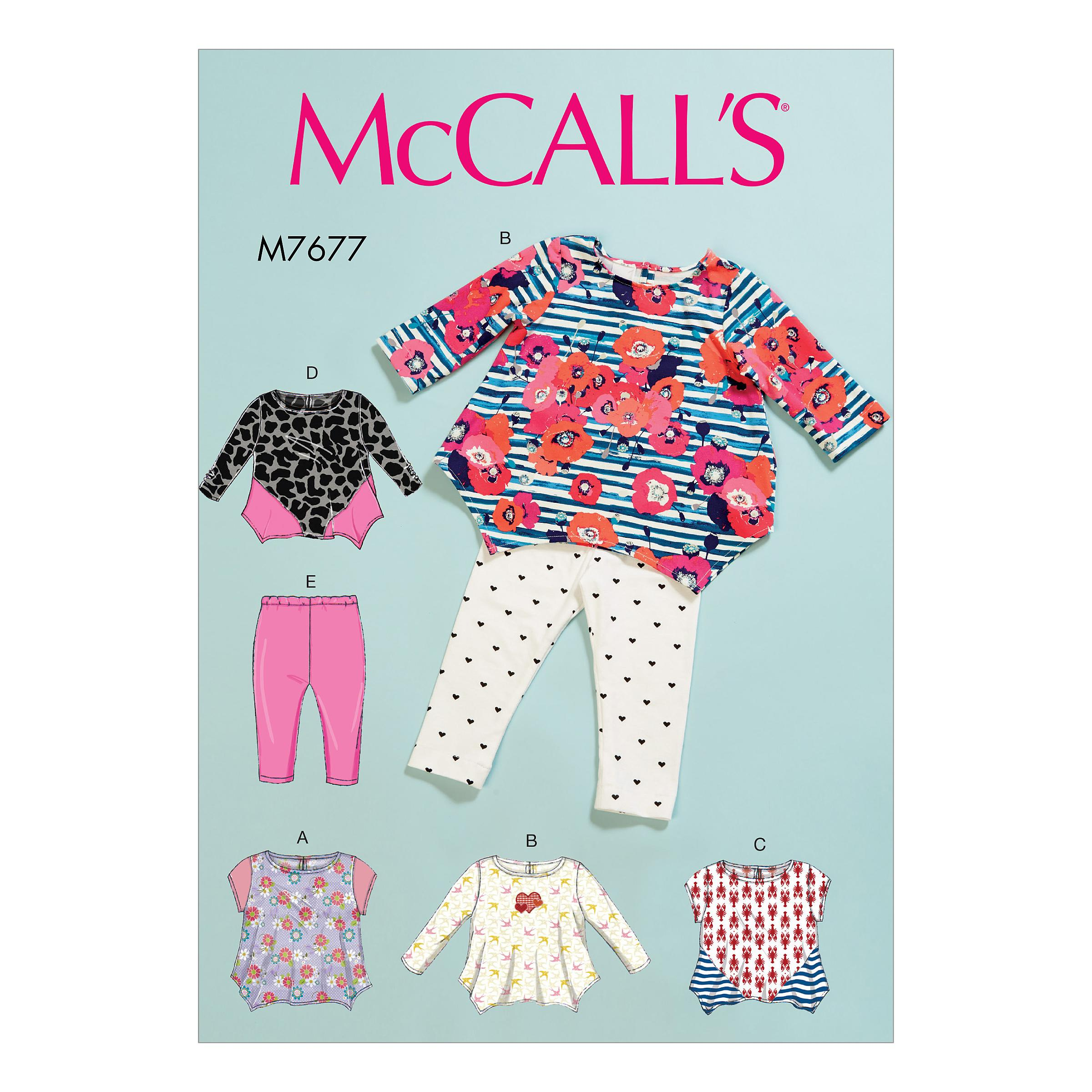 McCalls M7677 Kids Infants & Toddlers