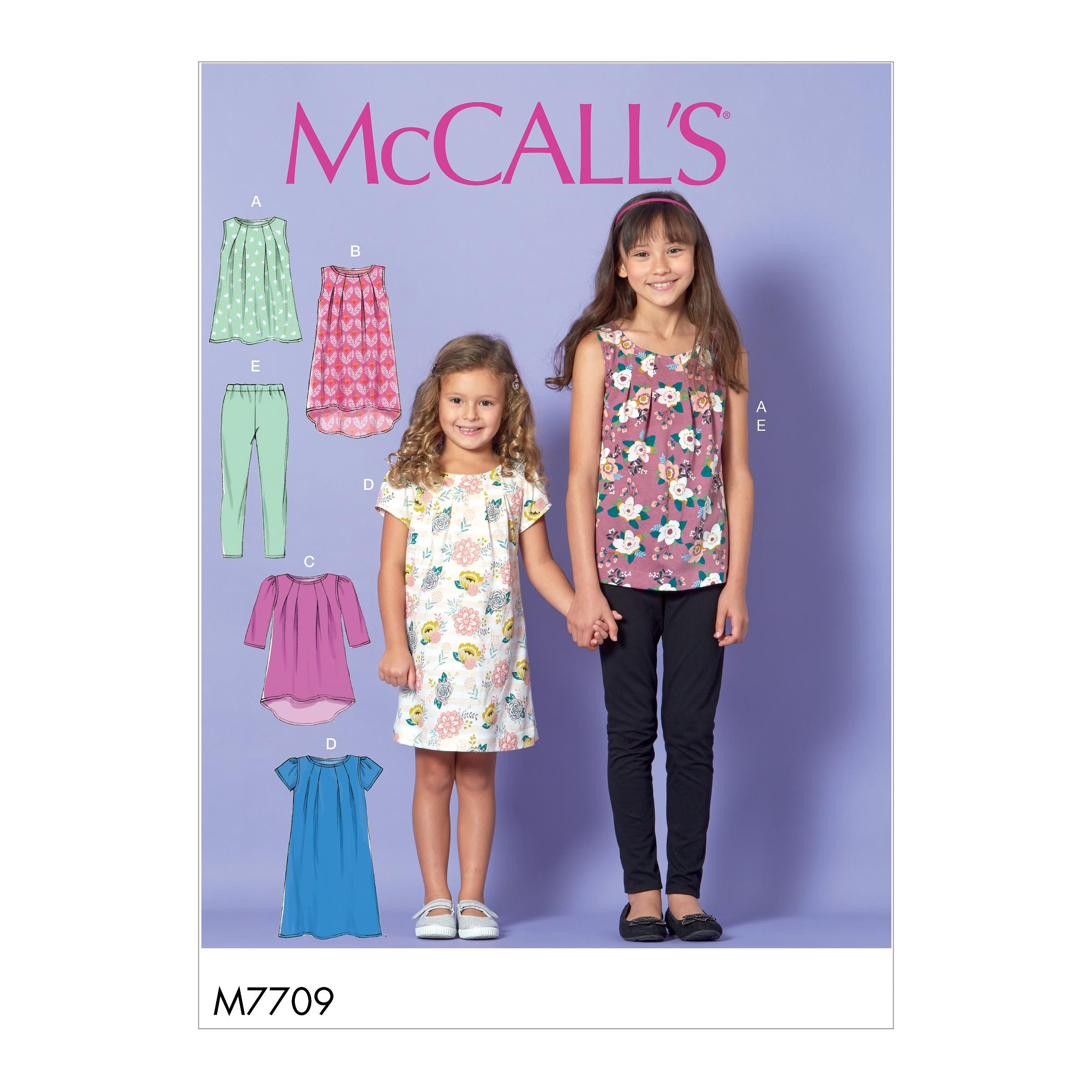 McCalls M7709 Kids Children, Kids Girls & Boys