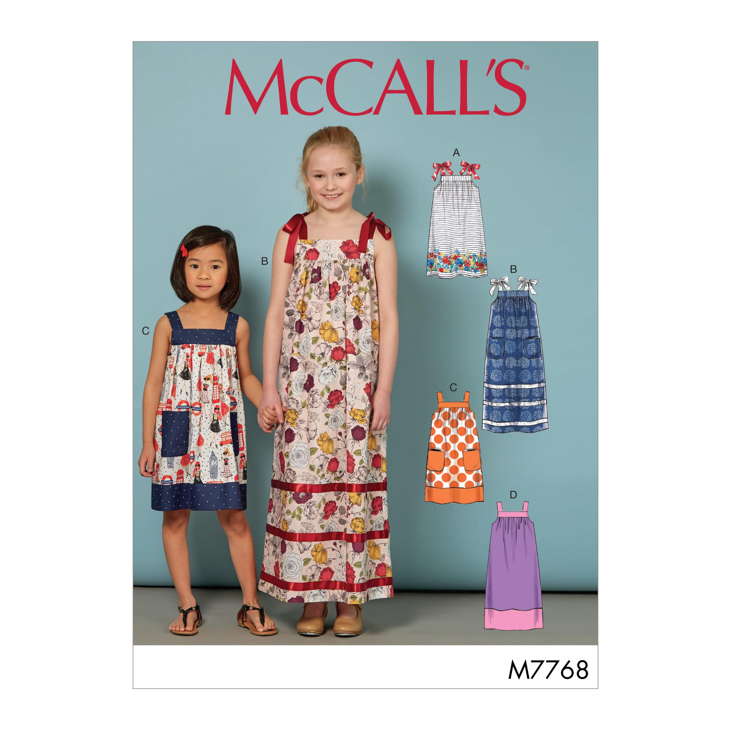 McCalls M7768 Kids Children, Kids Girls & Boys