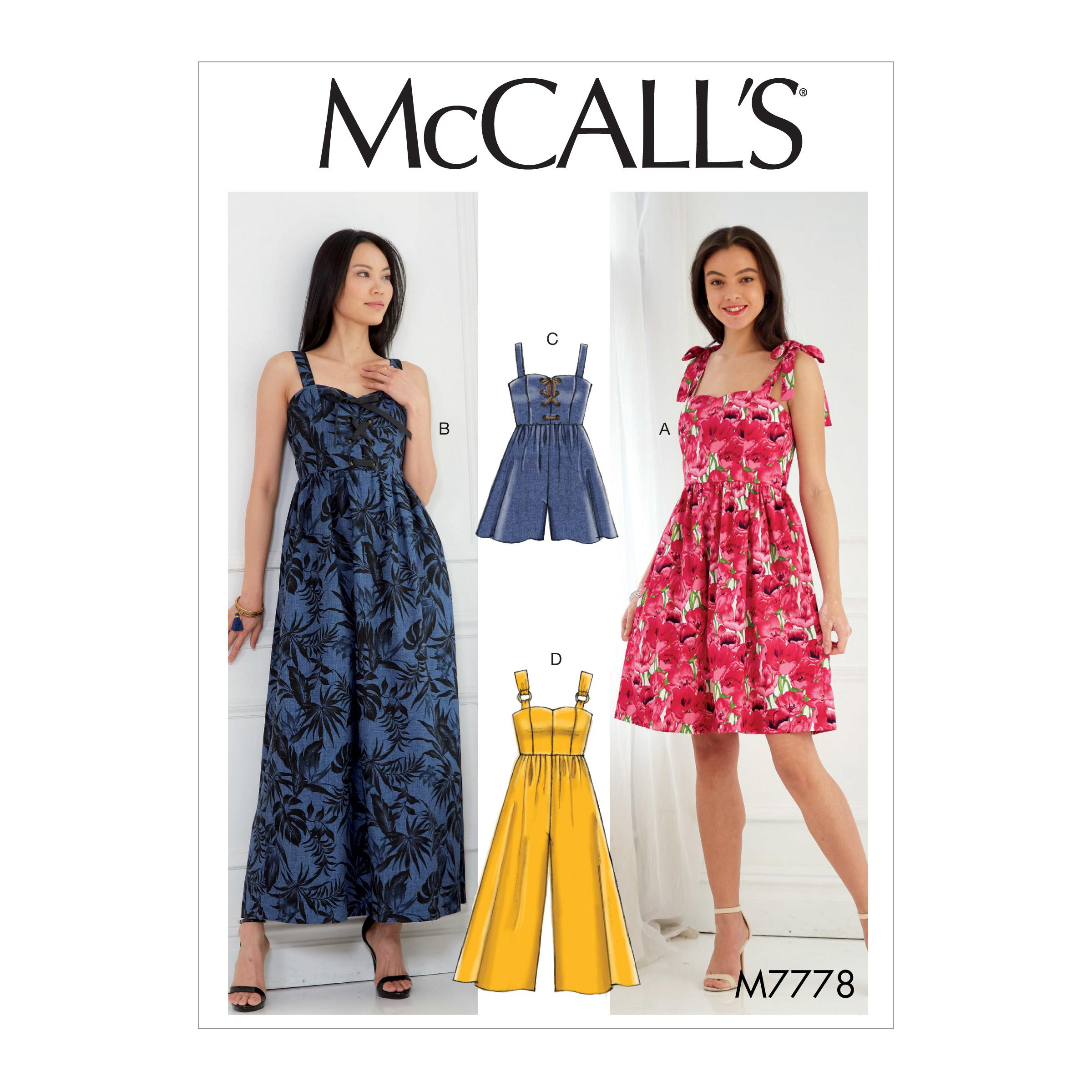 McCalls M7778 Misses Dresses, Misses Pants, Jumpsuits & Shorts