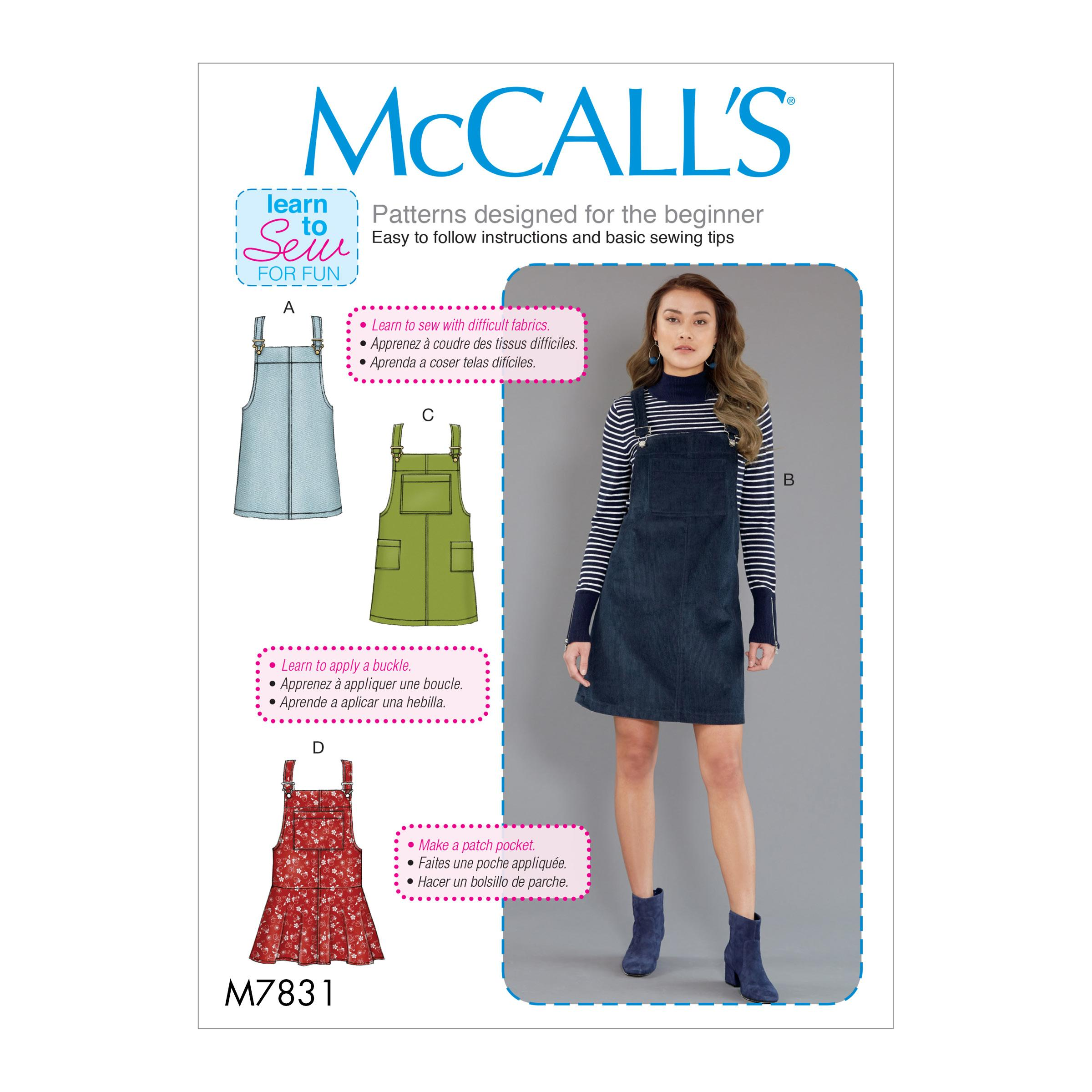McCalls M7831 Misses Pants, Jumpsuits & Shorts
