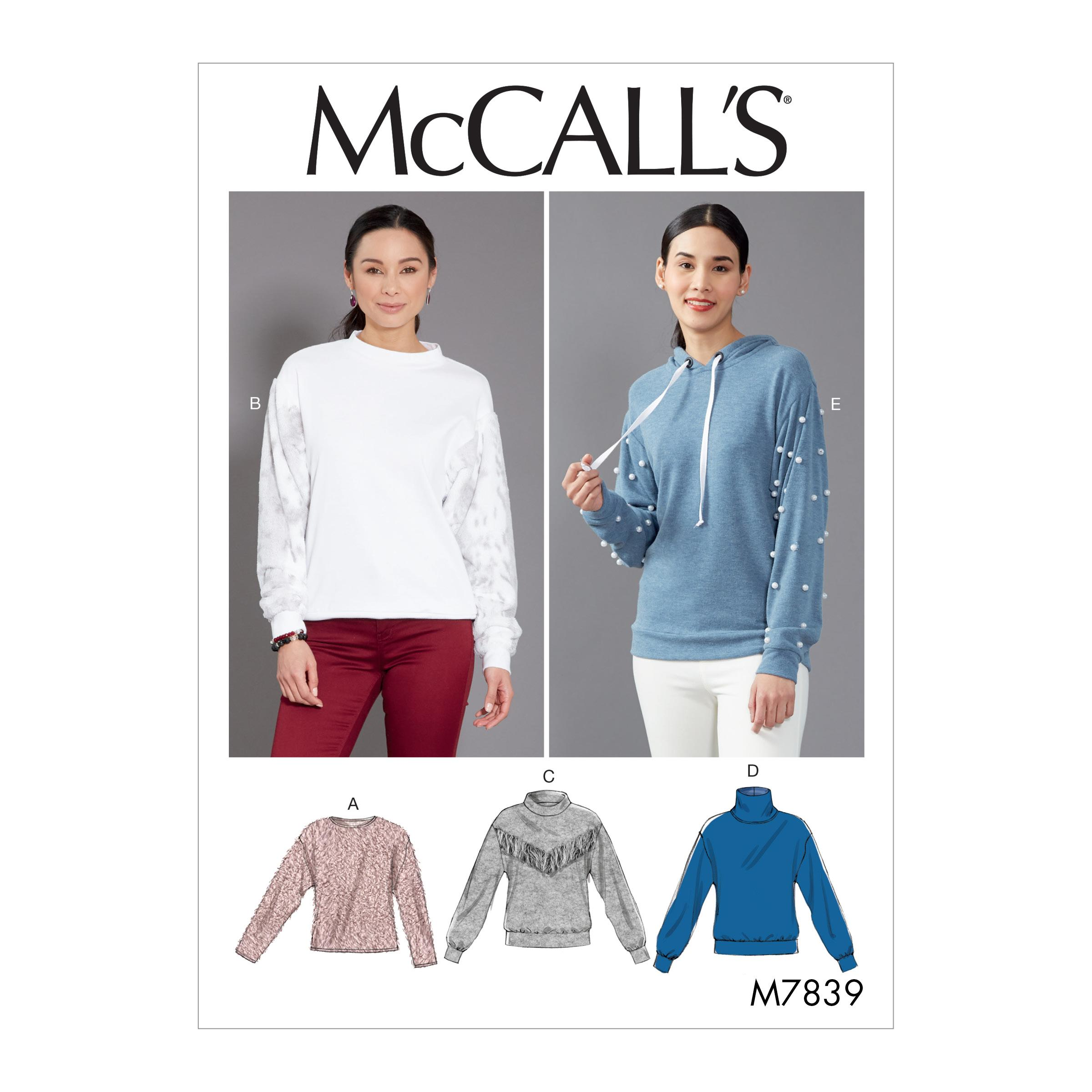 McCalls M7839 Misses Tops