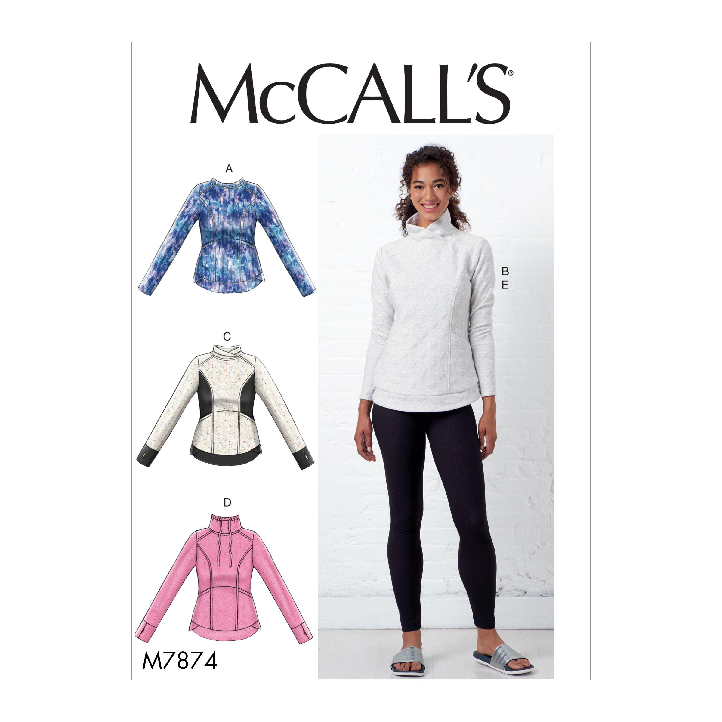 McCalls M7874 Misses Tops, Misses Pants, Jumpsuits & Shorts, Misses Coordinates
