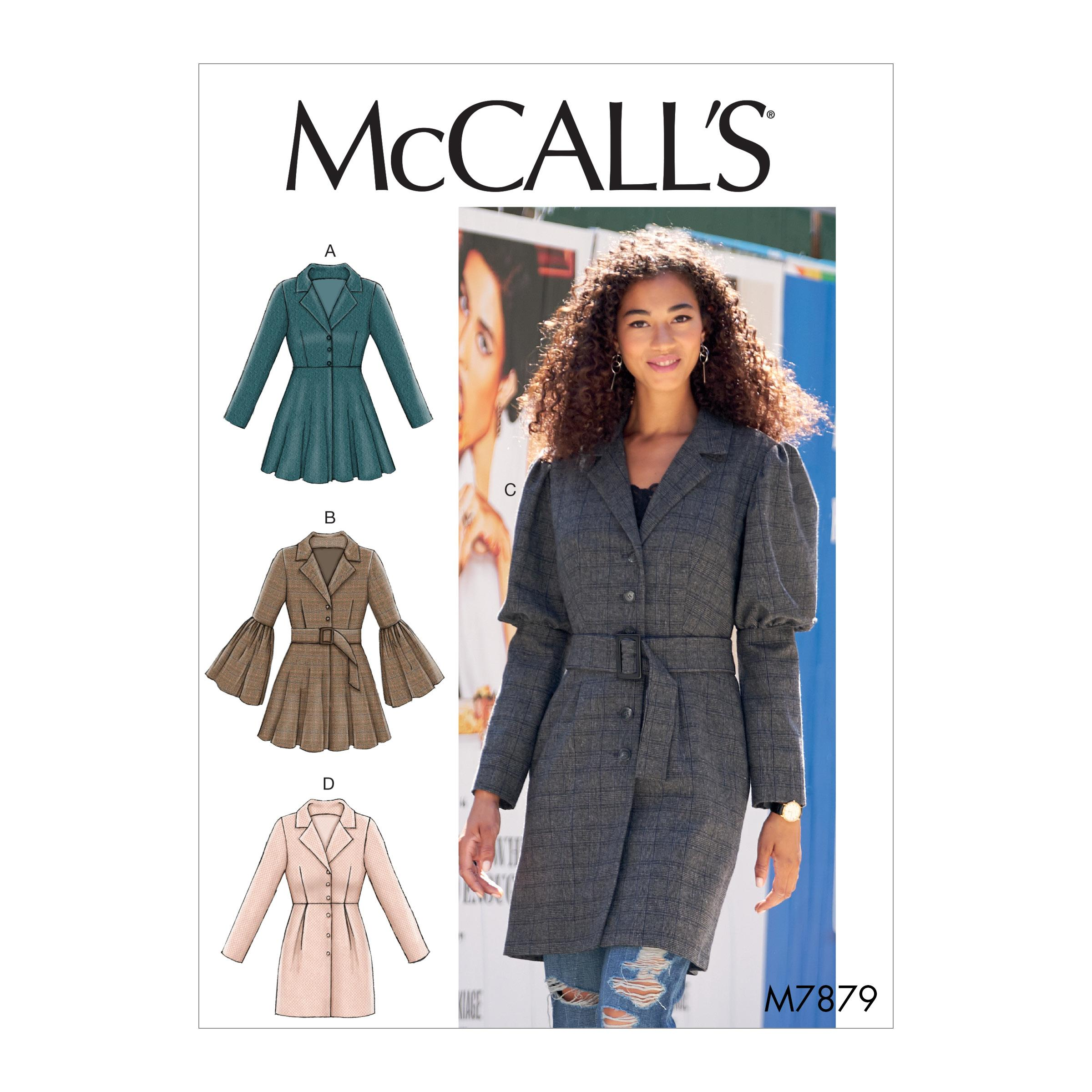 McCalls M7879 Misses Coats, Capes & Ponchos