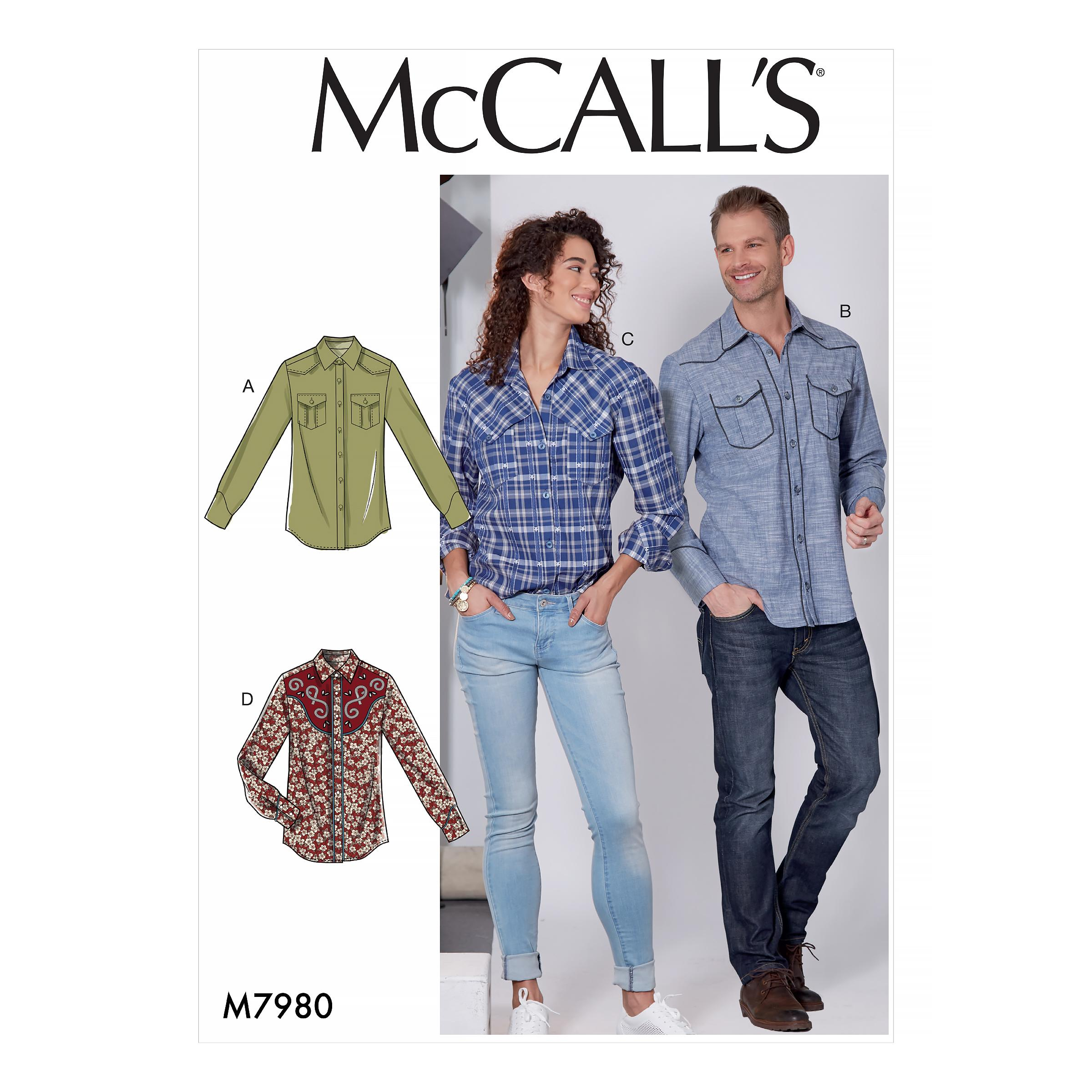 McCalls M7980 Misses Tops, Men