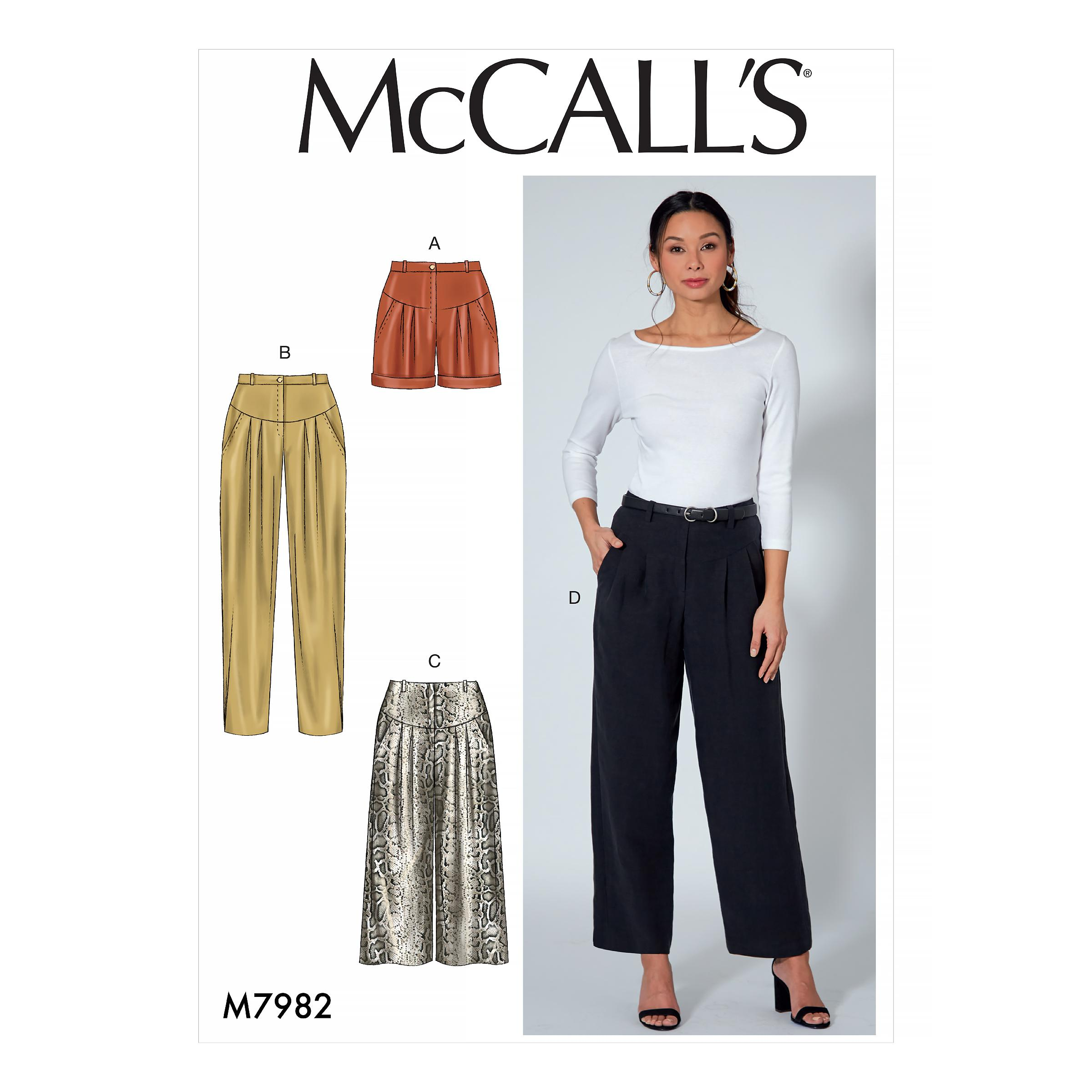 McCalls M7982 Misses Pants, Jumpsuits & Shorts