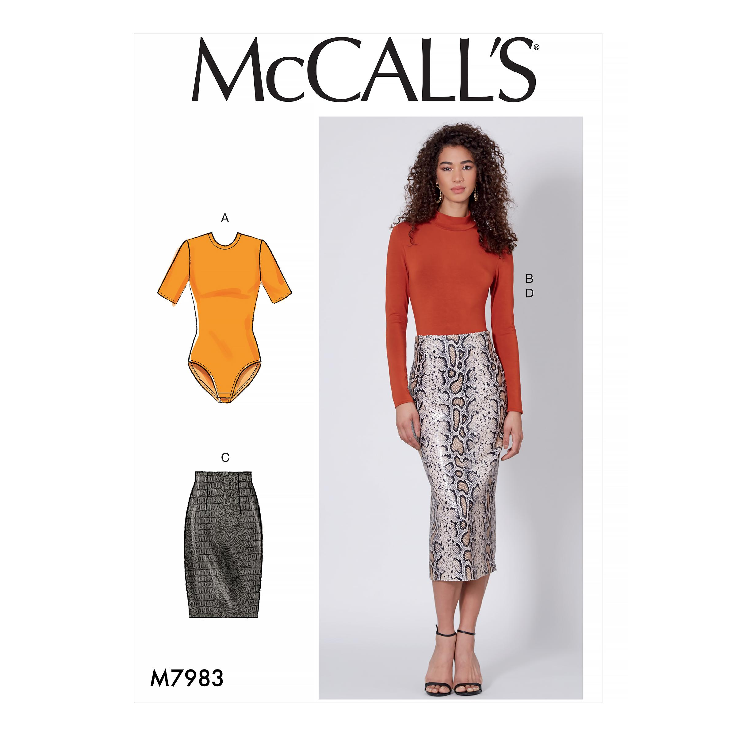 McCalls M7983 Misses Tops, Misses Skirts, Misses Coordinates