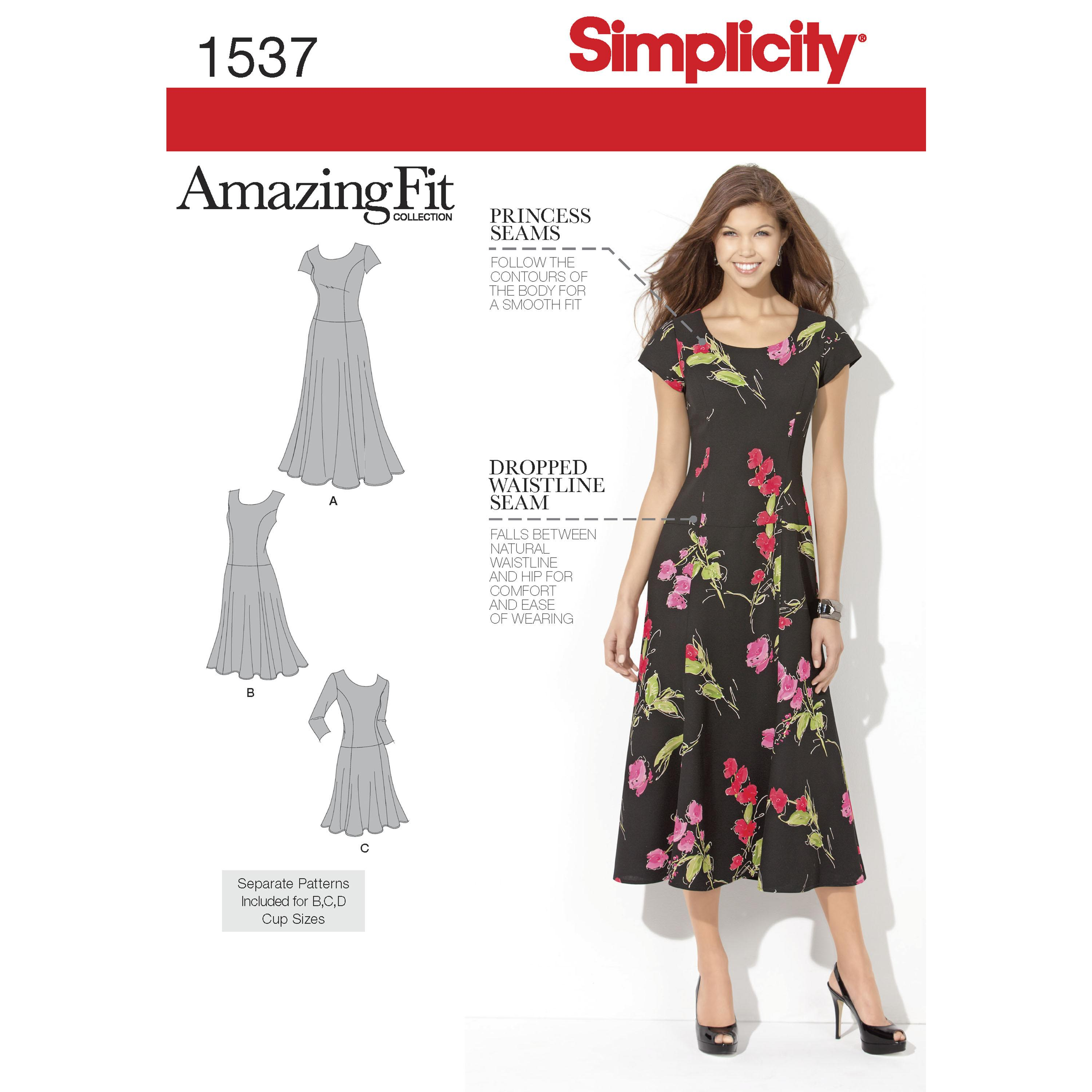 Simplicity S1537 Women's and Plus Size Amazing Fit Dress