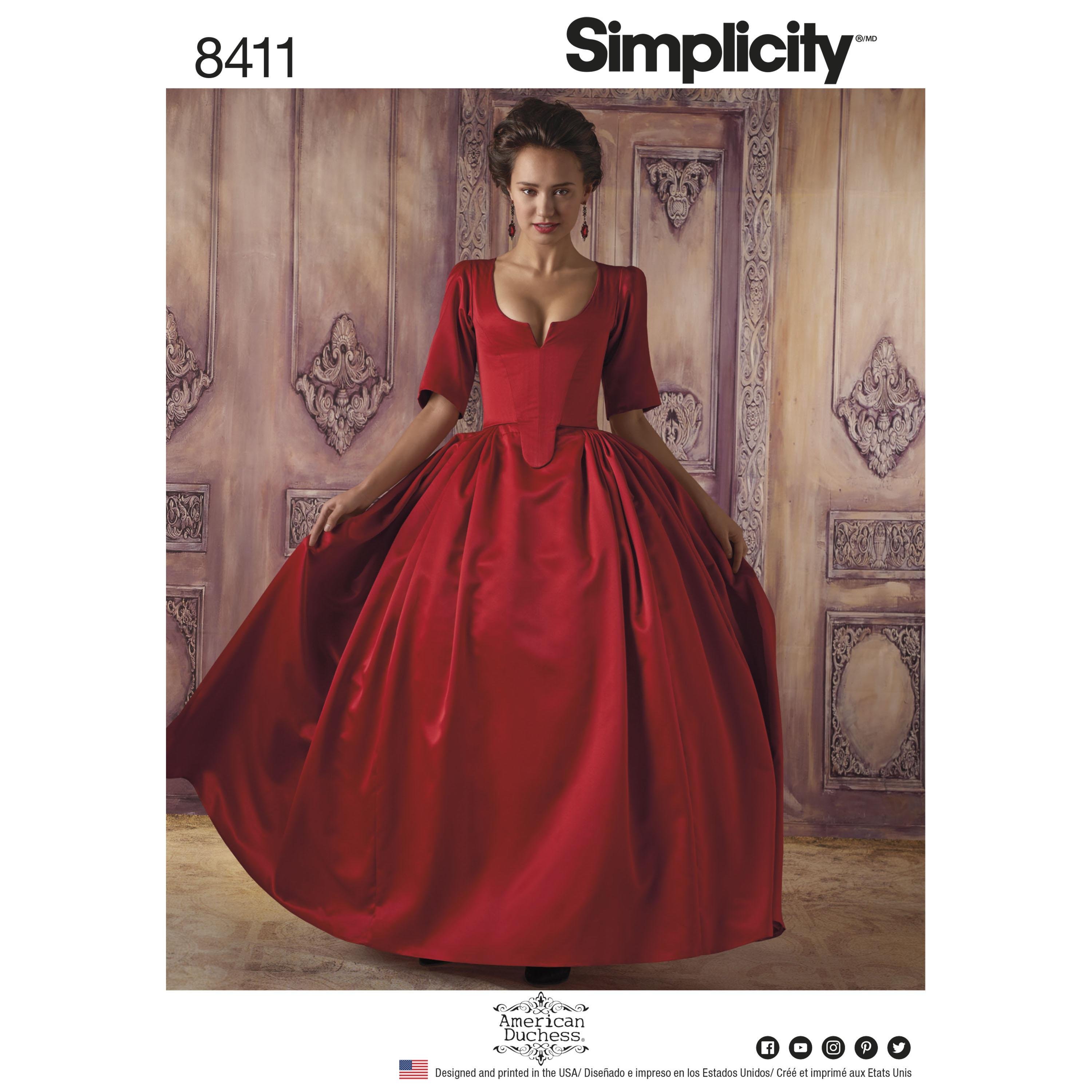Simplicity S8411 Womens 18th Century Costume