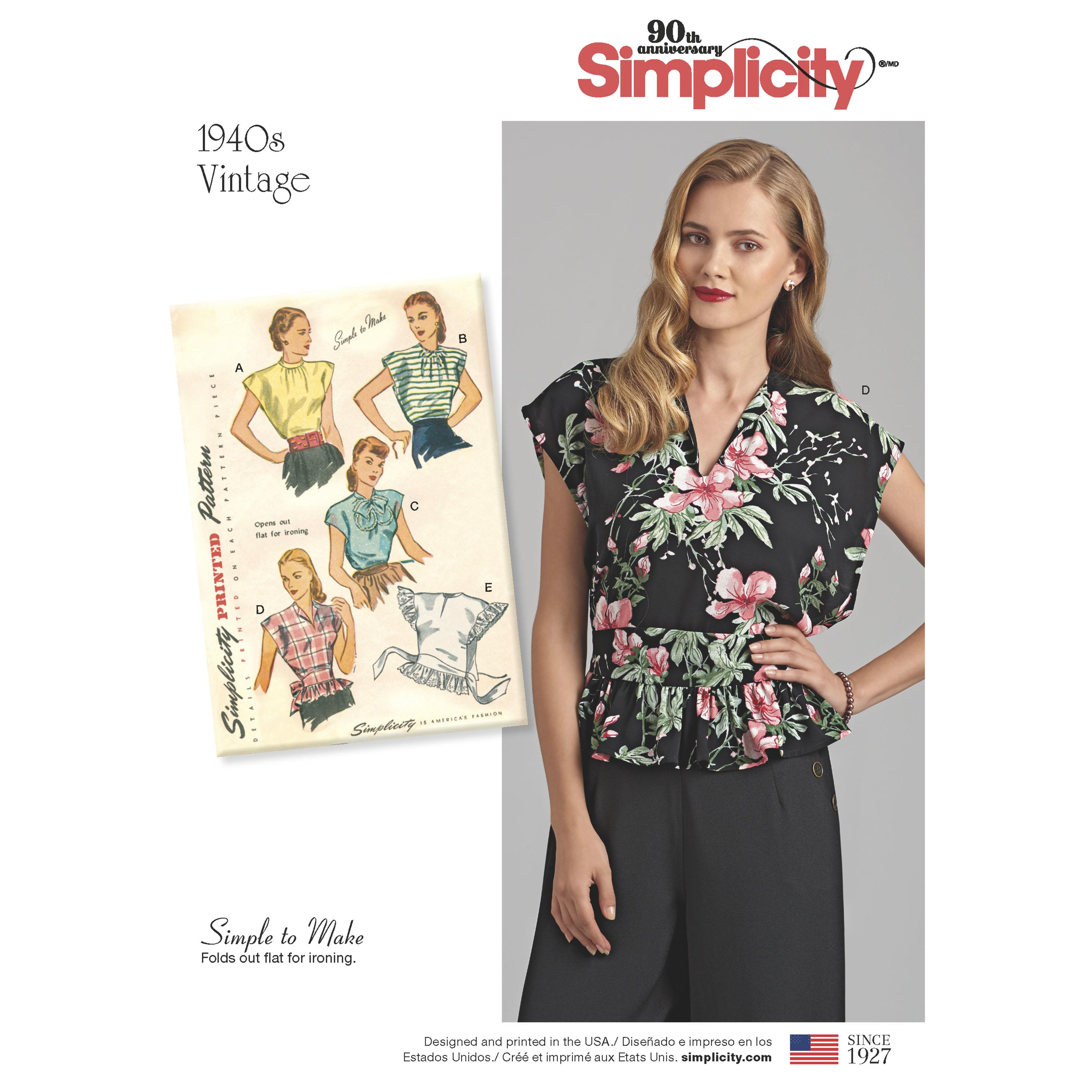 Simplicity S8593 Womens Vintage Poncho Blouses