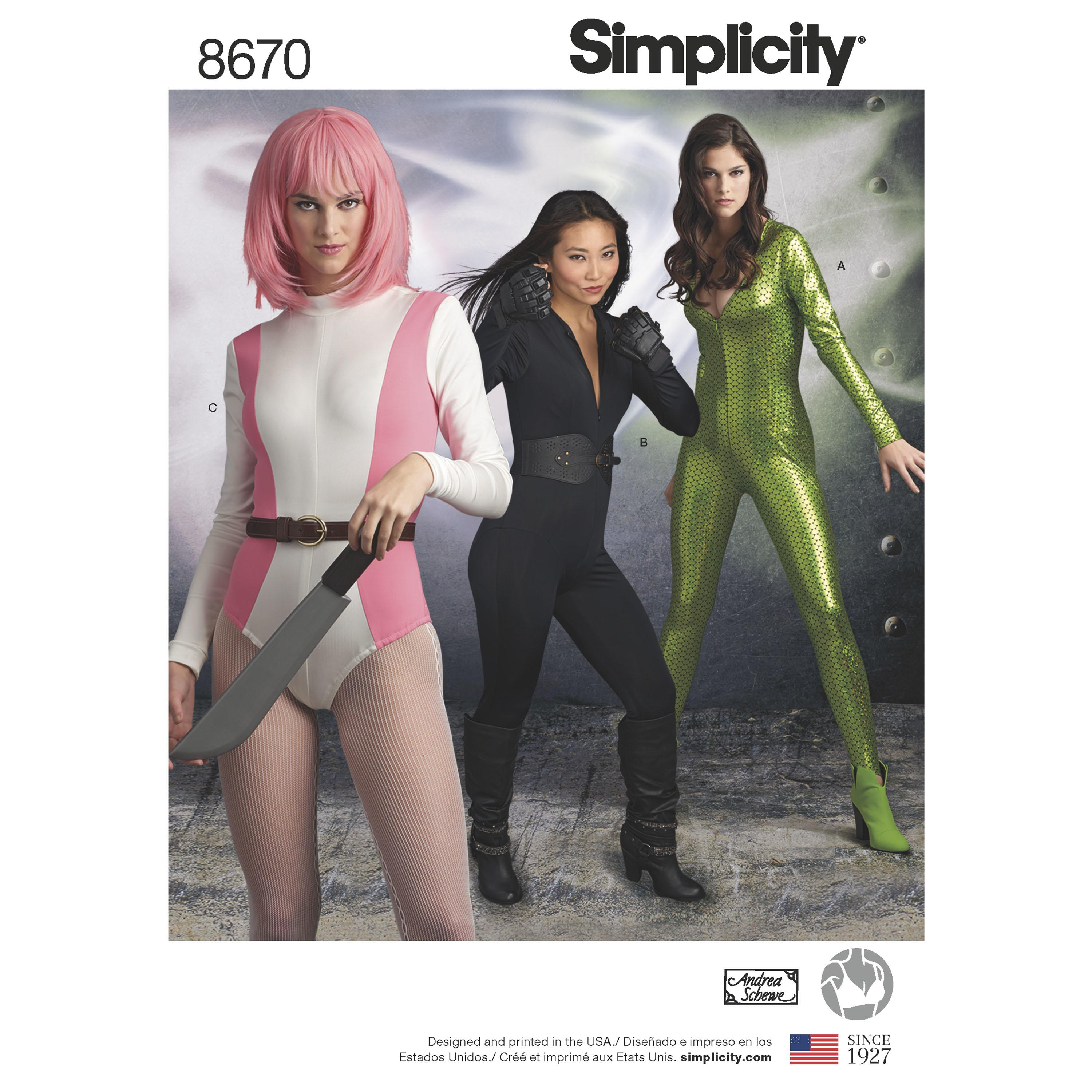 Simplicity S8670 Womens Knit Costume