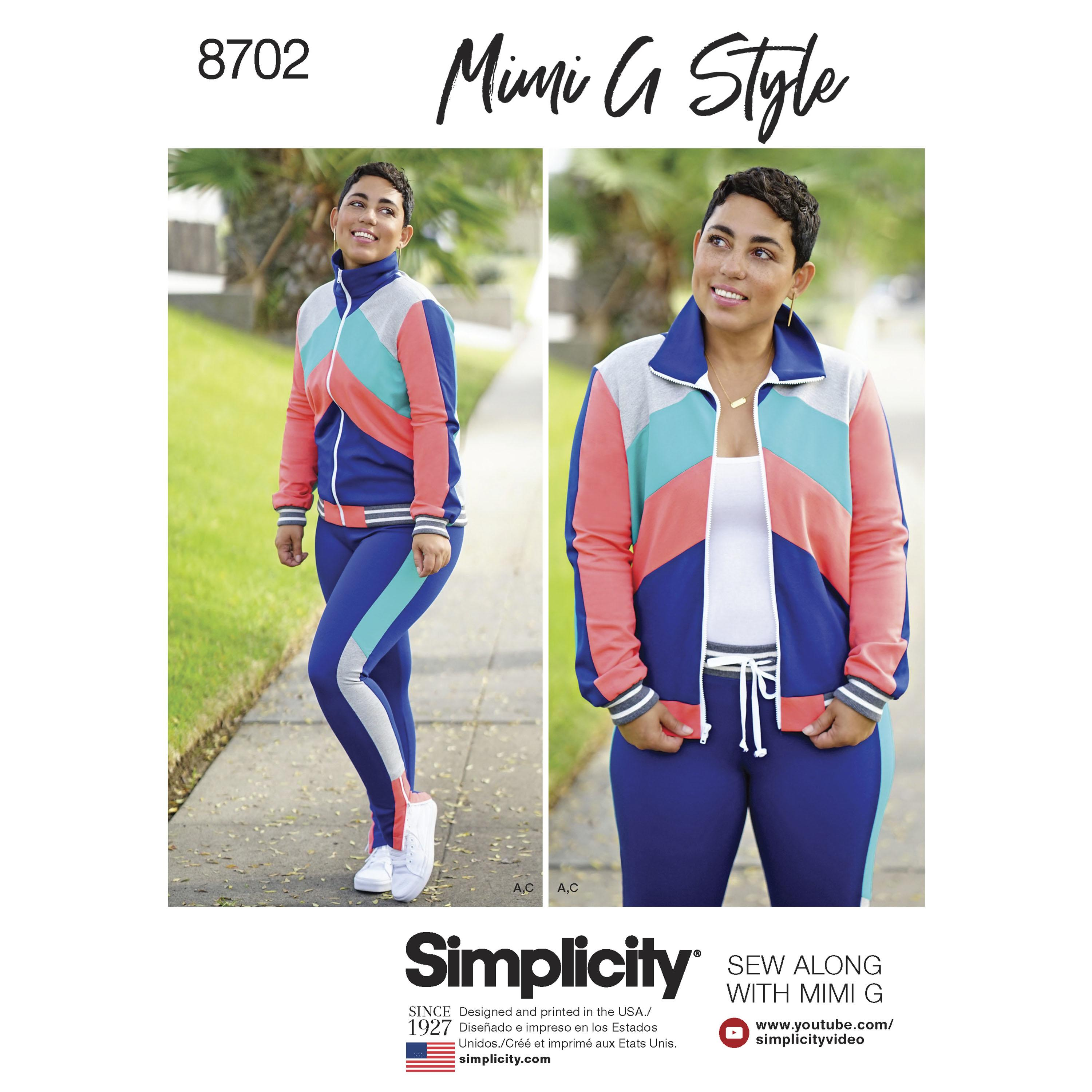 Simplicity S8702 Mimi G Women's Knit Jacket, Pant and Leggings