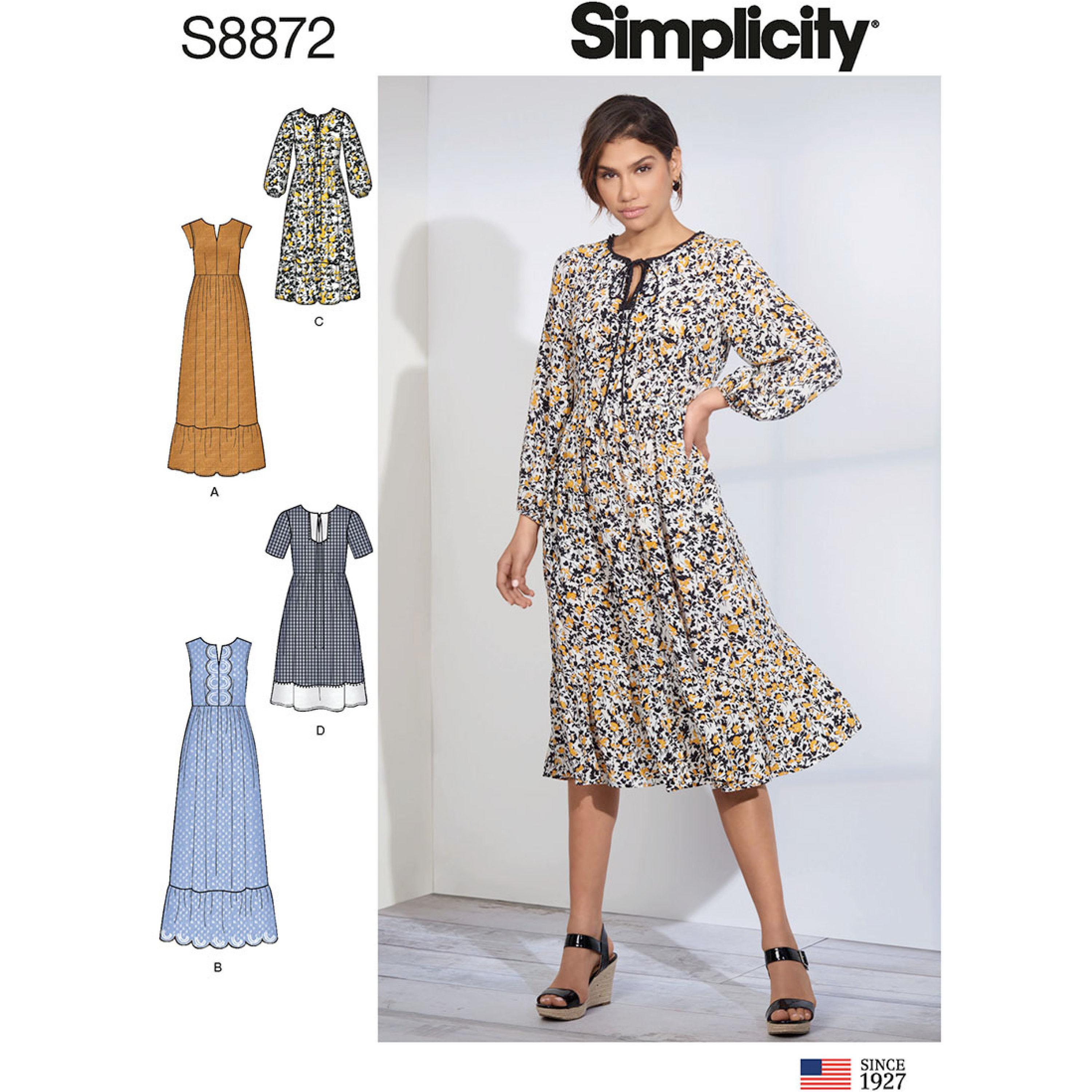 Simplicity S8872 Misses' Pullover Dress