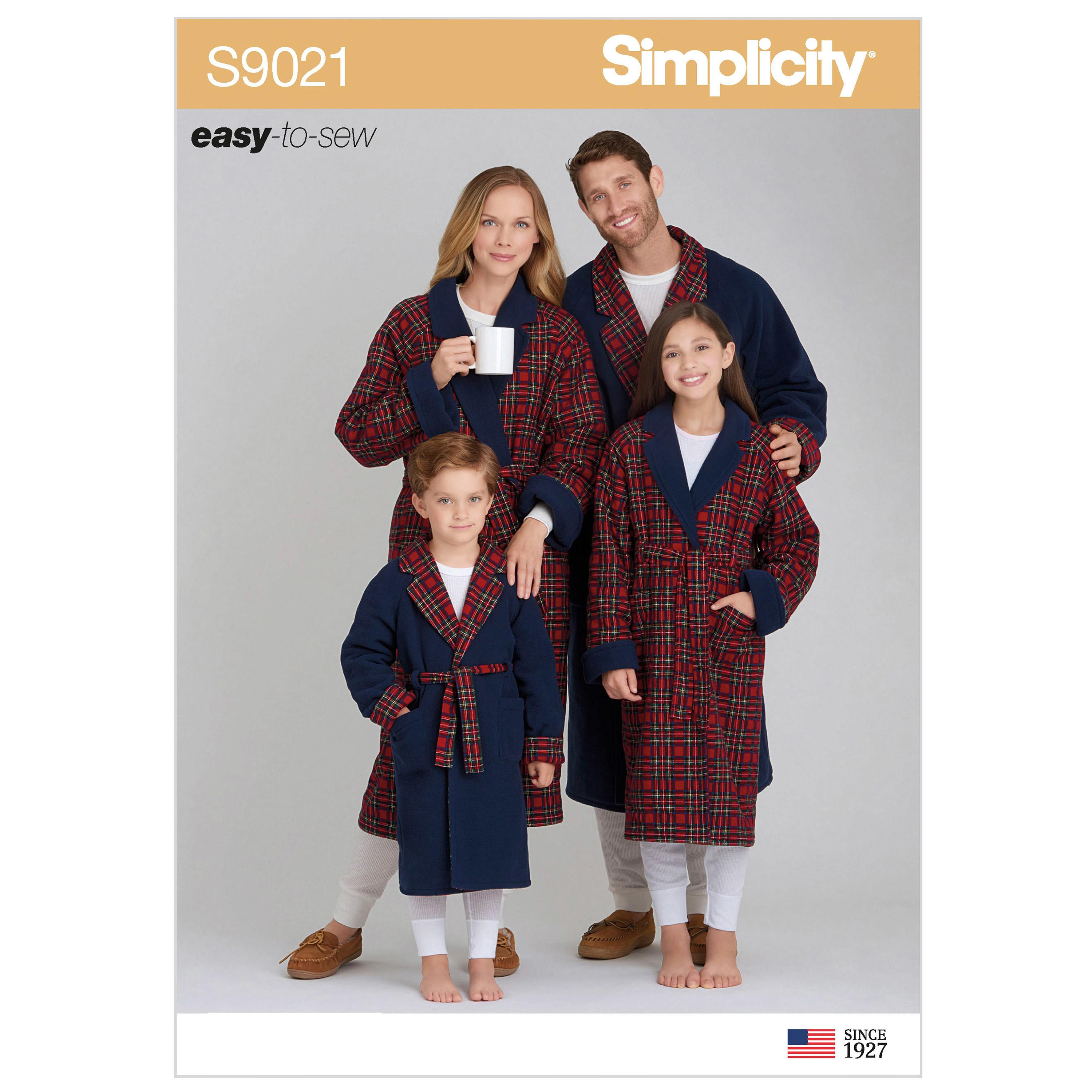 Simplicity S9021 Children's, Teens' & Adults' Robe