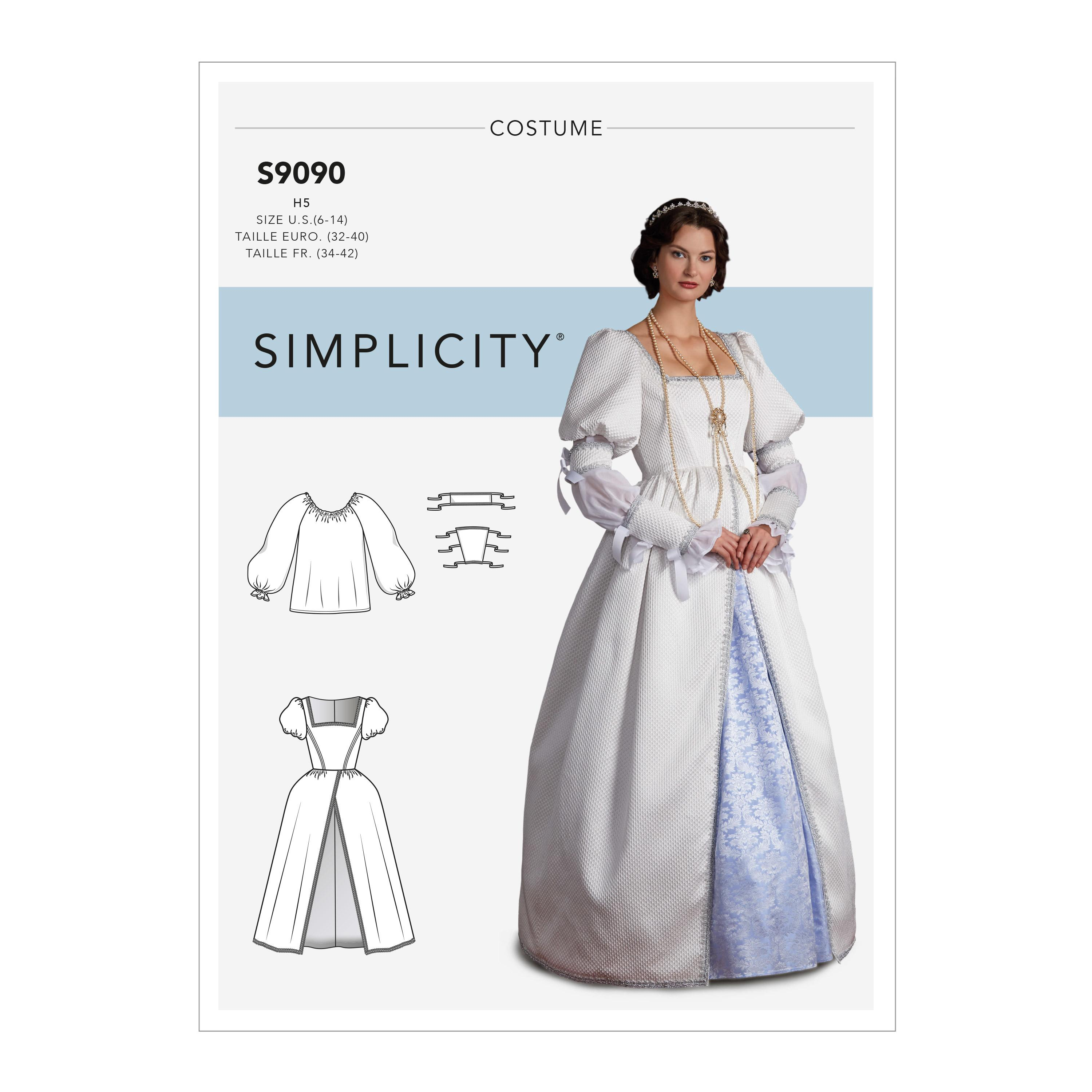 Simplicity S9090 Misses' Historical Costume