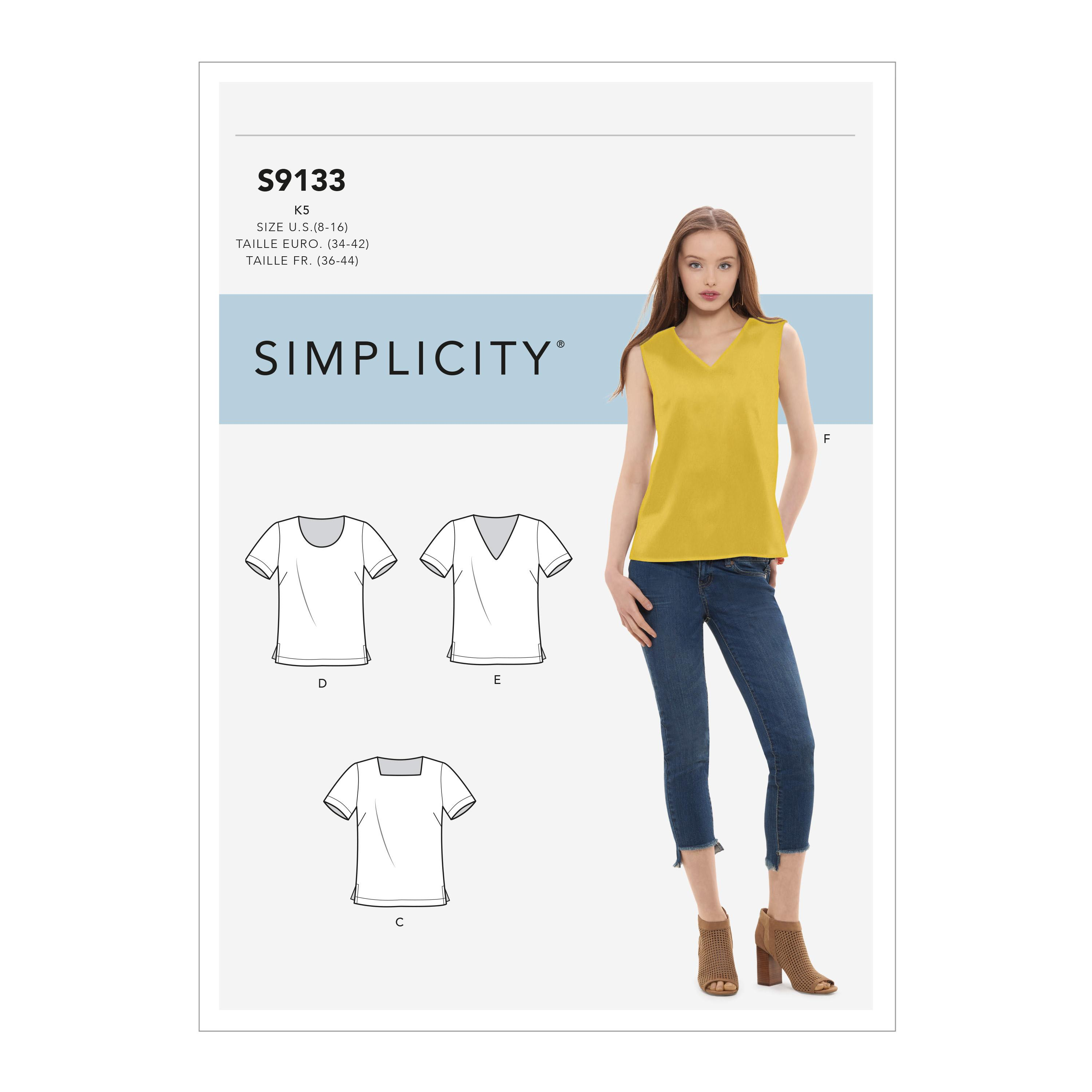 Simplicity S9133 Misses' Tops