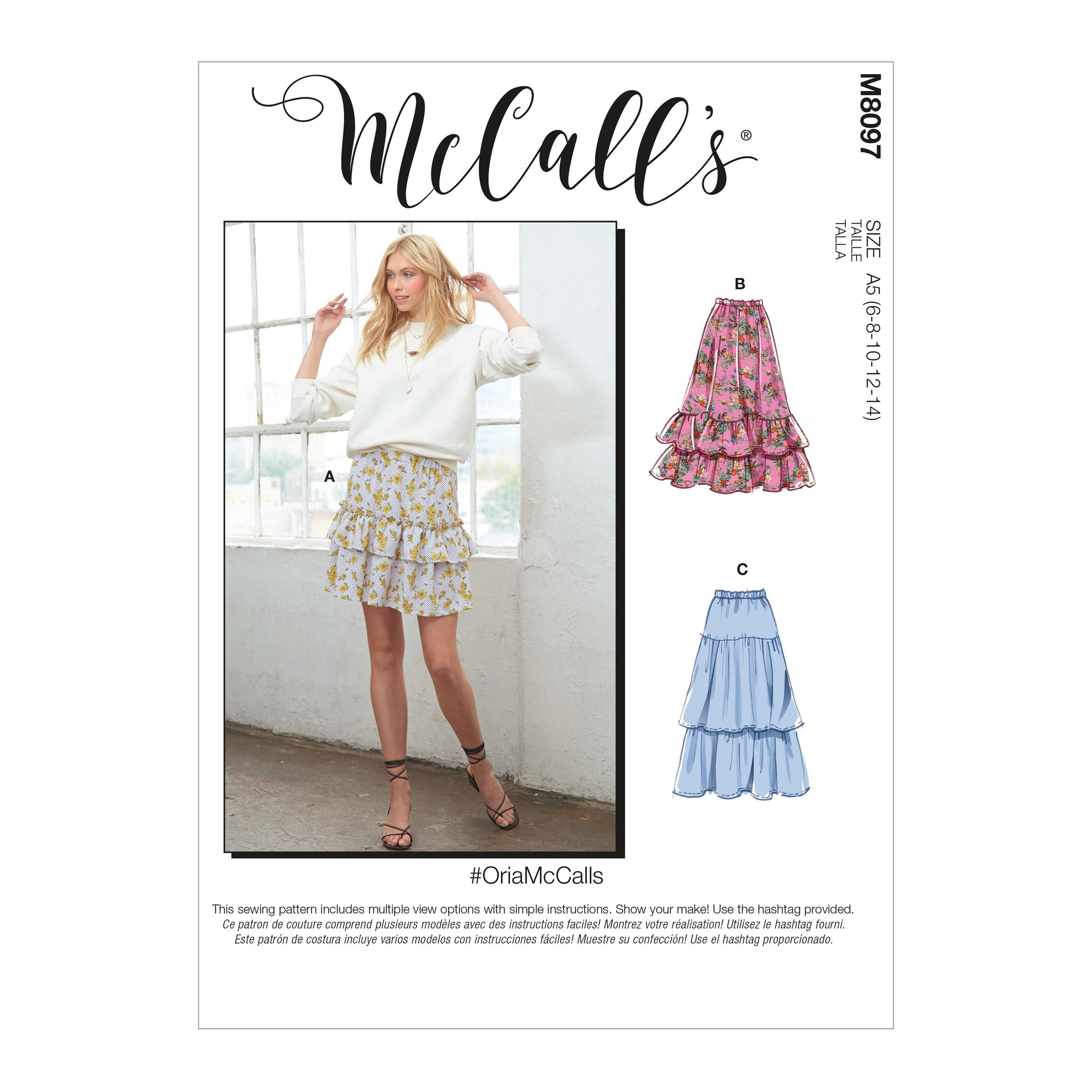 McCalls M8097 #OriaMcCalls - Misses' Skirts