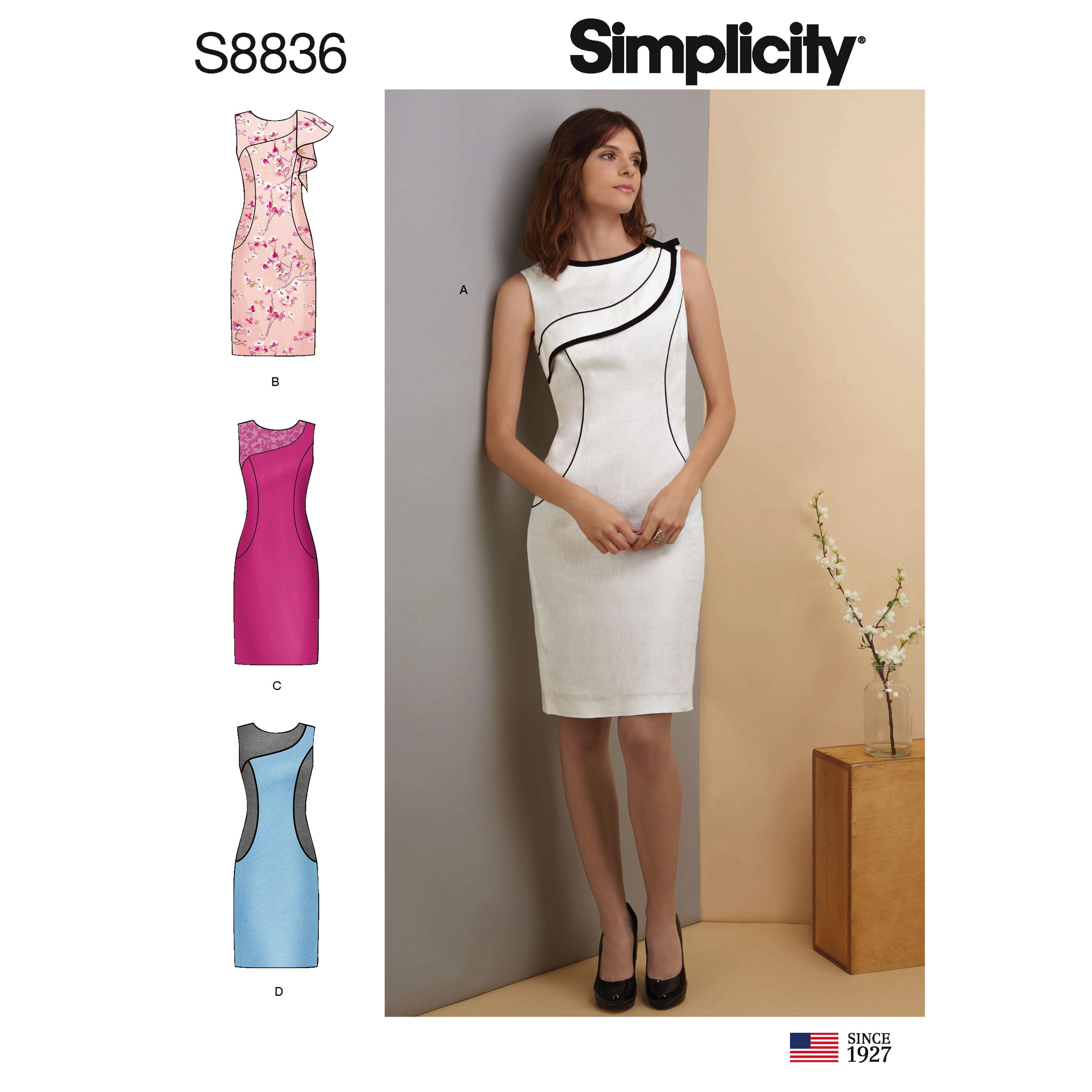 Simplicity S8836 Misses'/ Miss Petite Dress