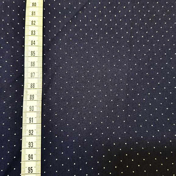 Navy Blue with pin spot cotton lawn