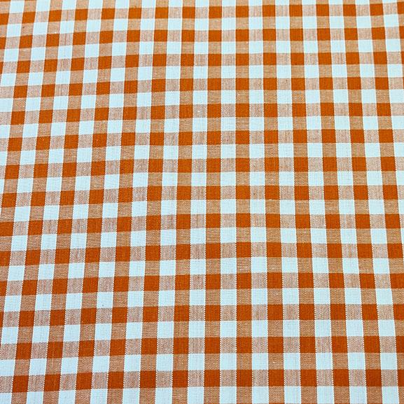 "1/4"" Gingham Polycotton Orange"