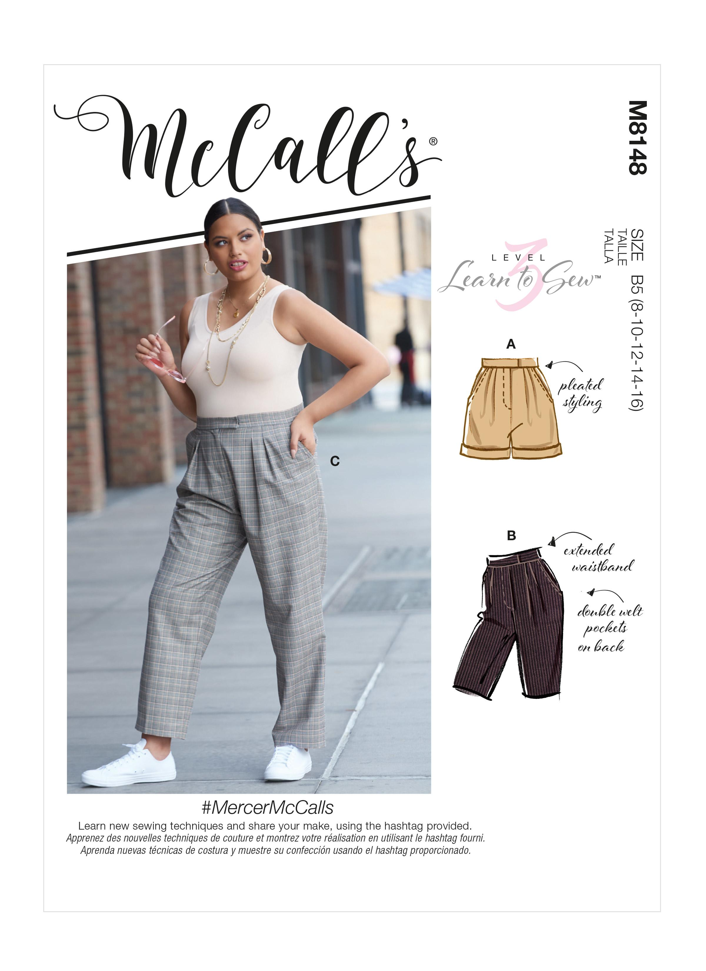 McCall's M8148 #MercerMcCalls - Misses' & Women's Pants