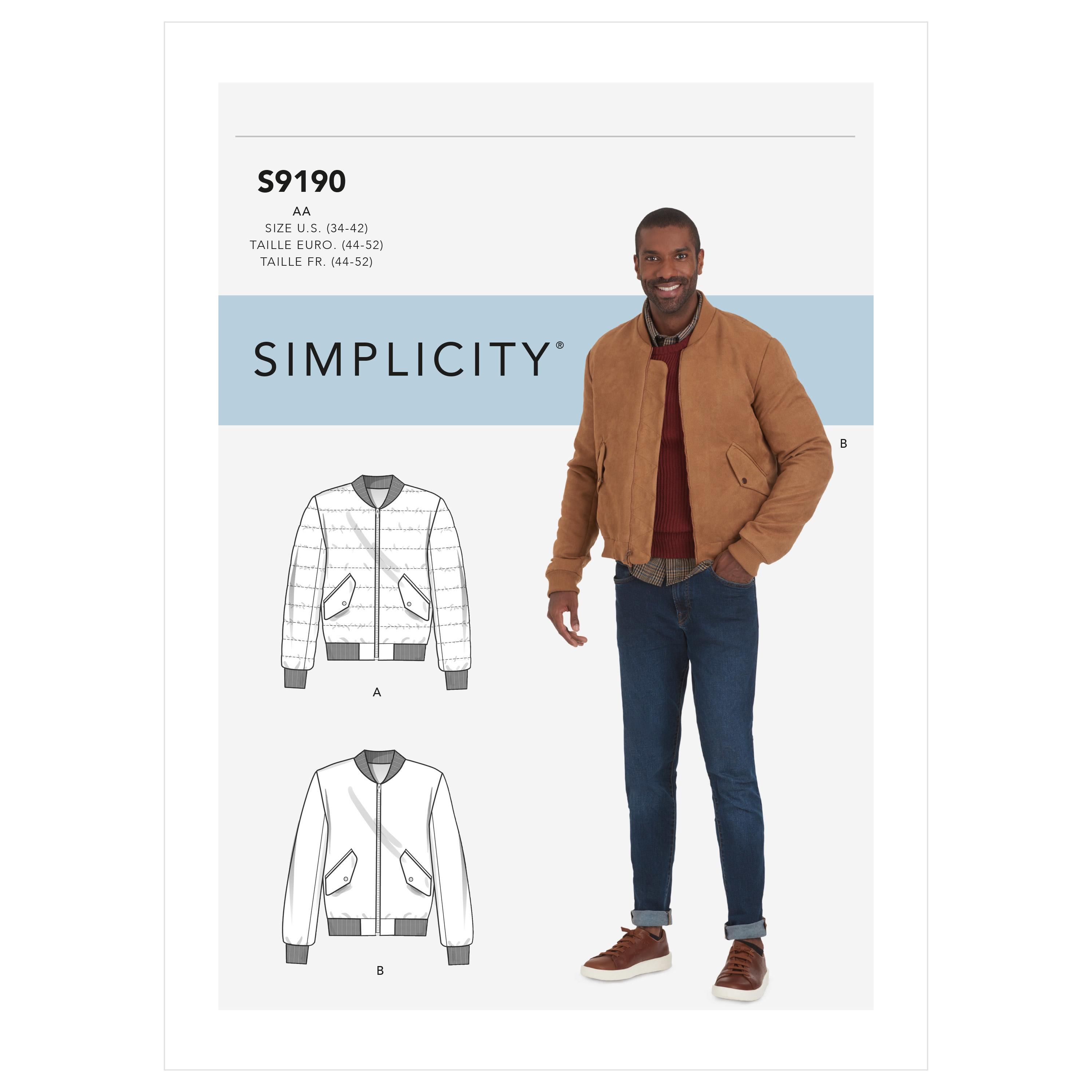 Simplicity Sewing Pattern S9190 Men's Jacket